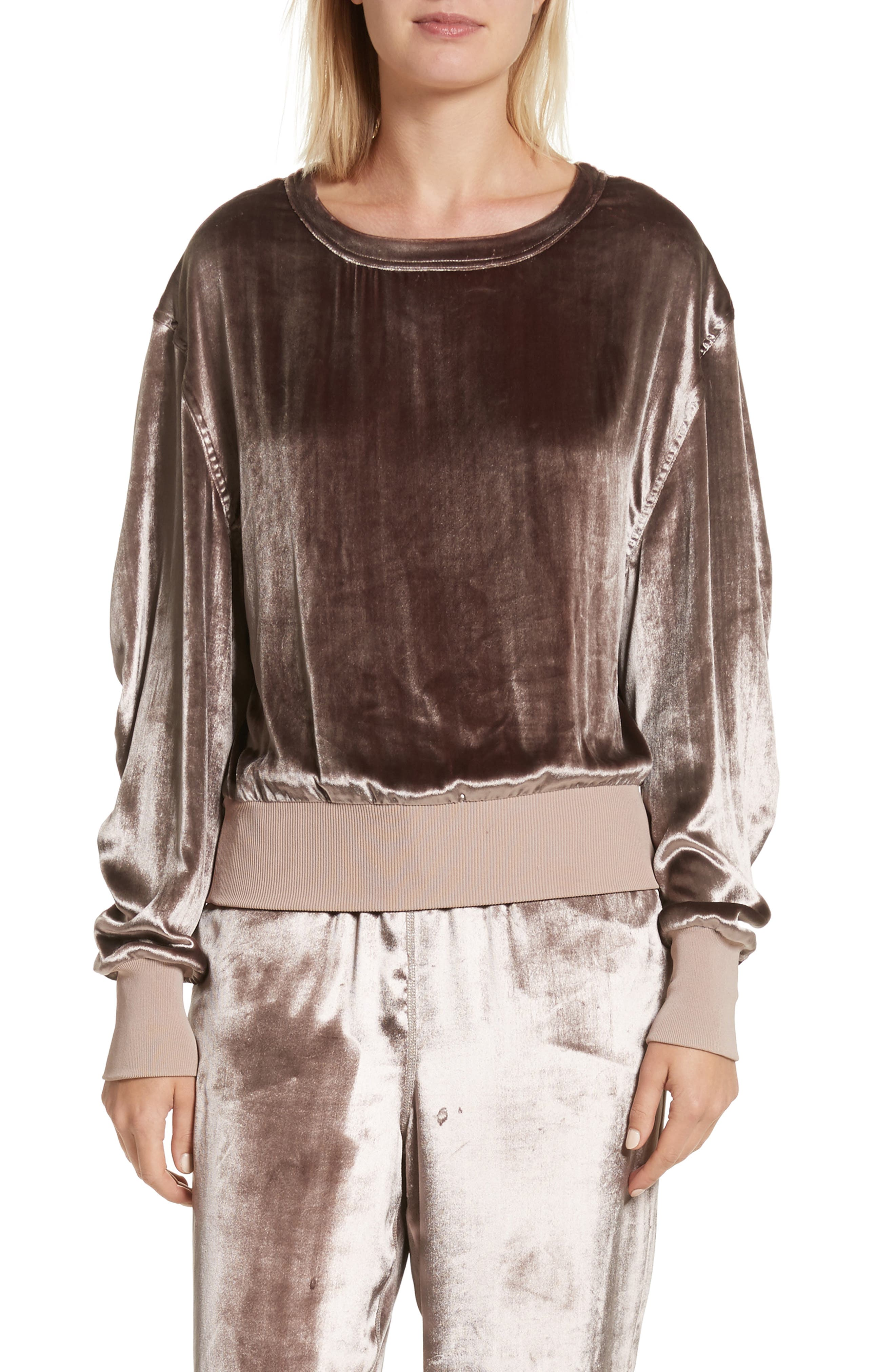 Alternate Image 1 Selected - rag & bone Velvet Sweatshirt