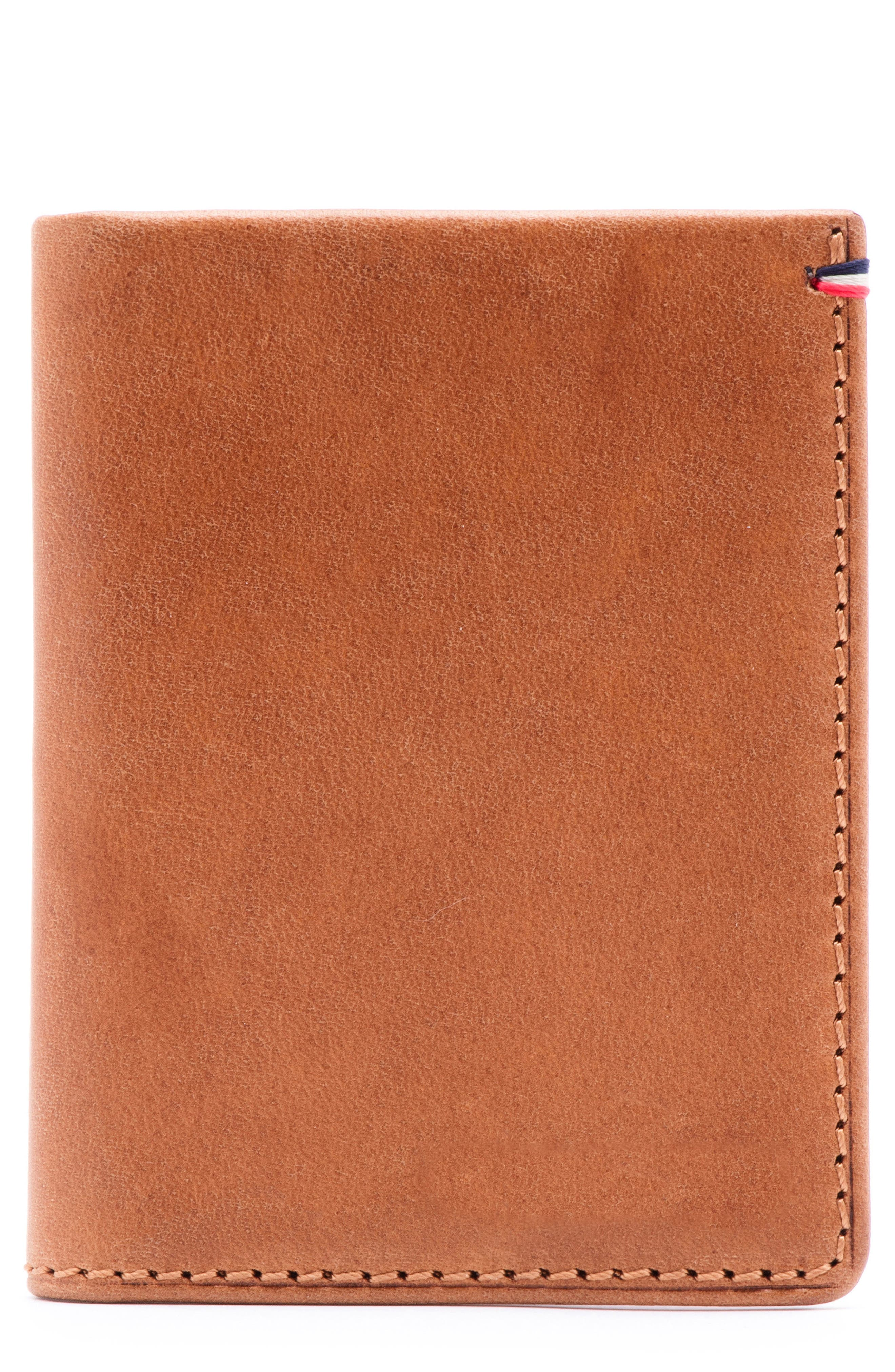 Core Leather Wallet,                         Main,                         color, Tan
