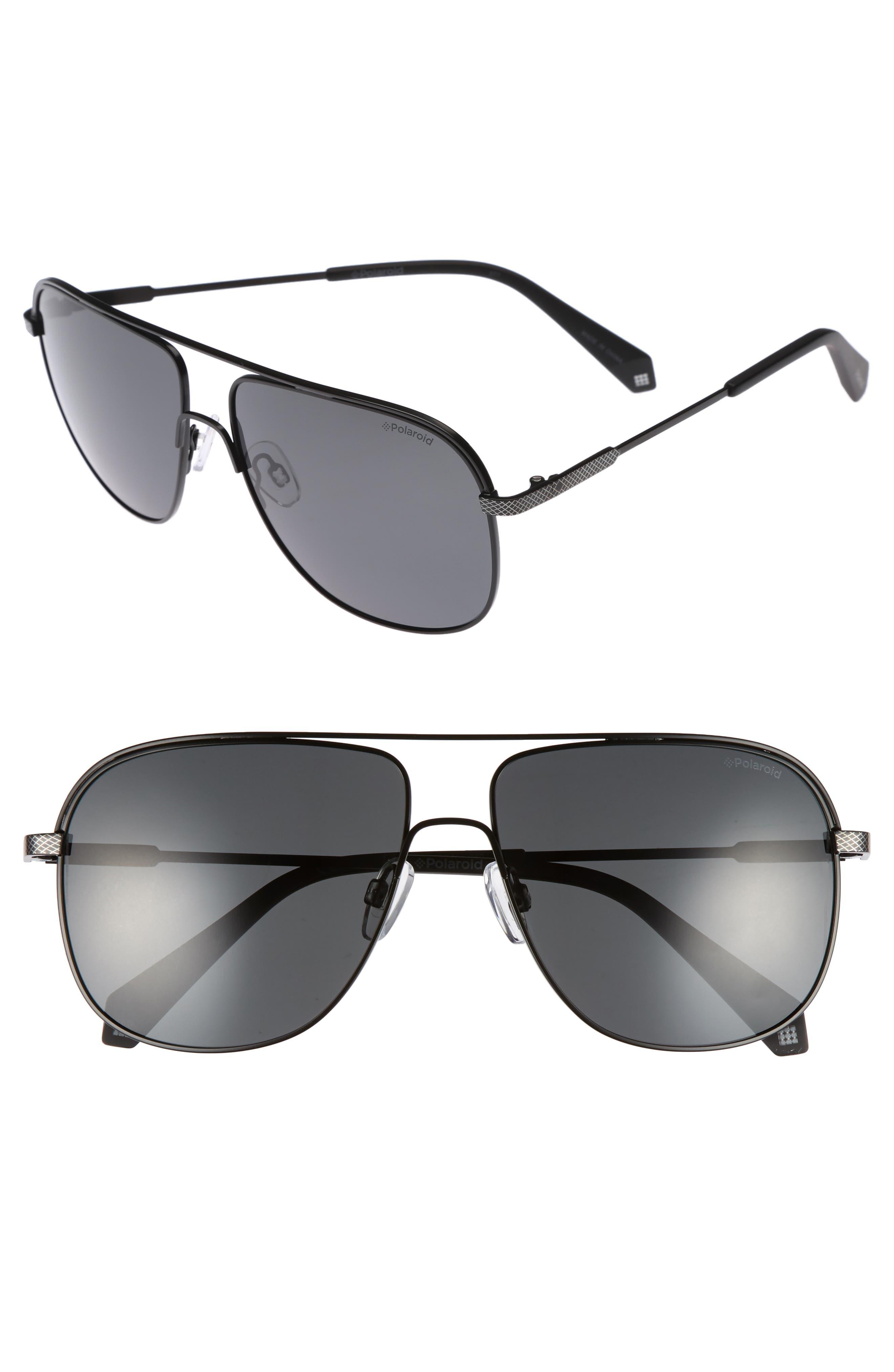 Polaroid 2055S 59mm Polarized Sunglasses,                         Main,                         color, Matte Black