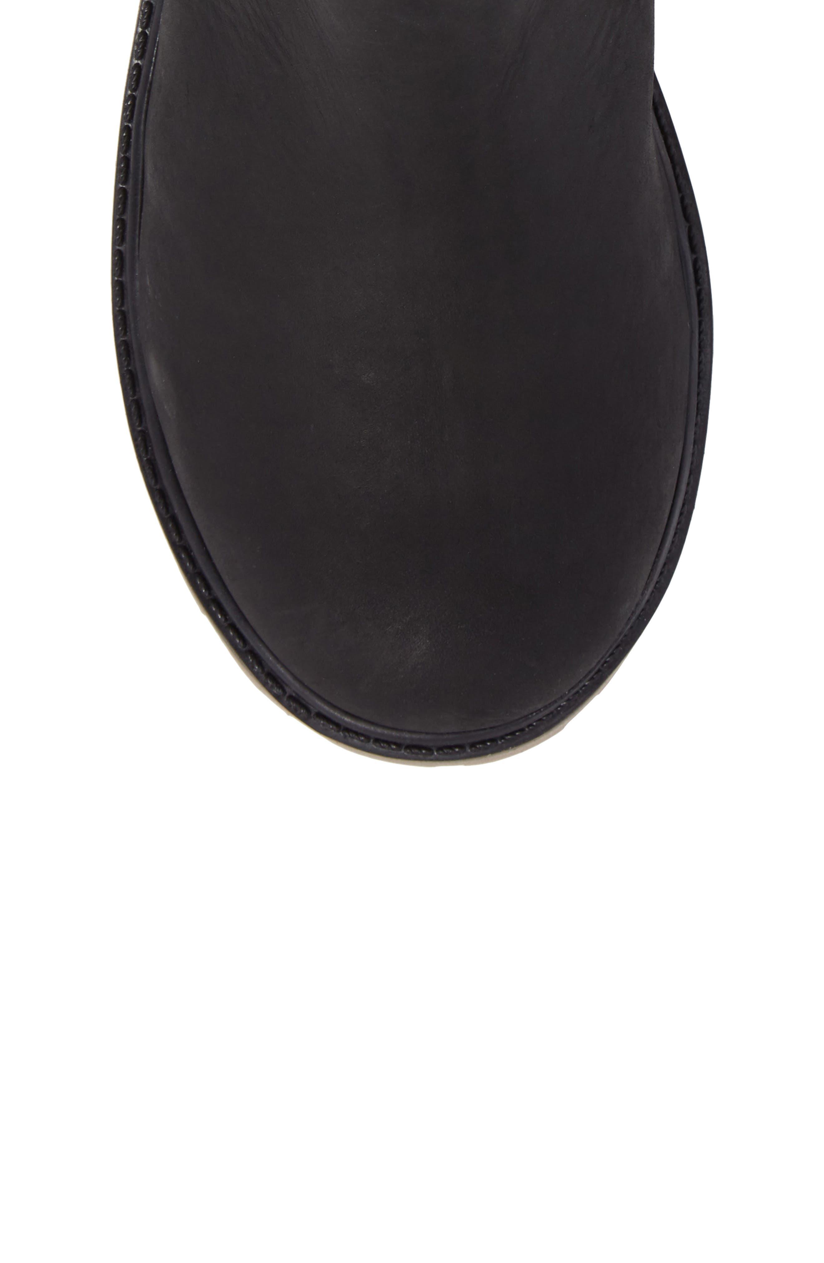 TakodaC Waterproof Chelsea Boot,                             Alternate thumbnail 5, color,                             Black