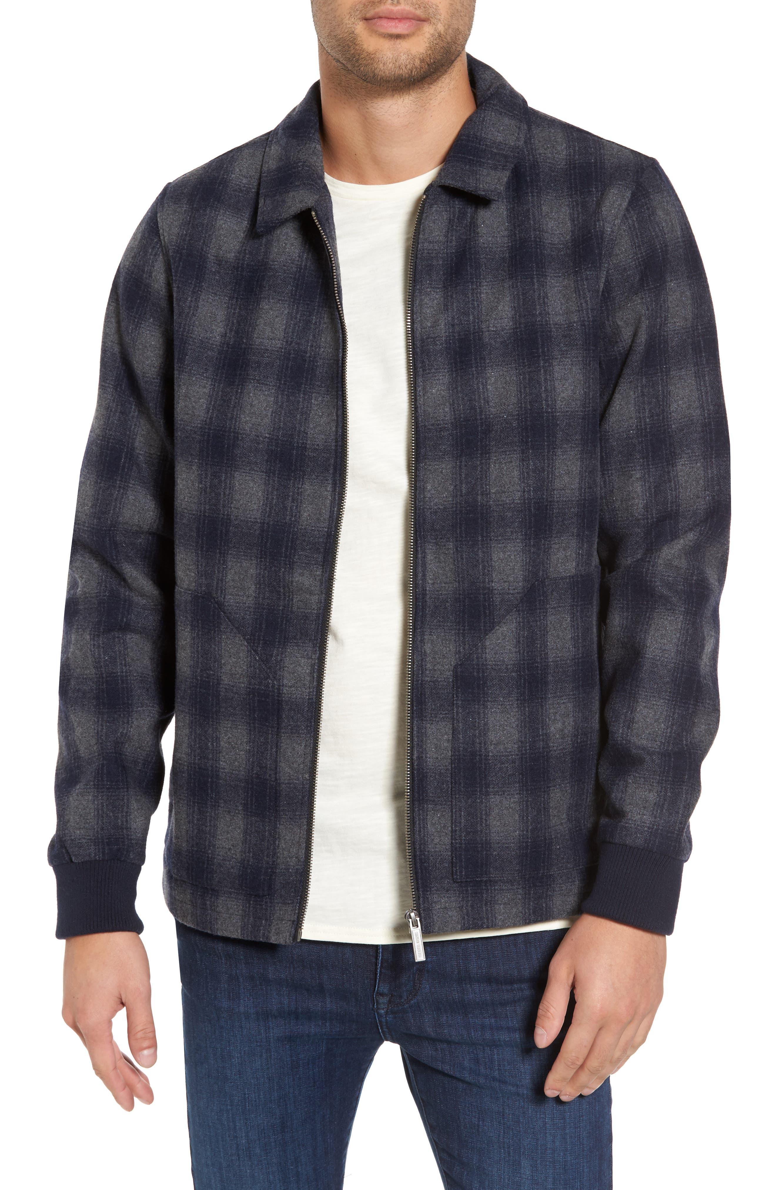 Robinsville Coach's Jacket,                         Main,                         color, Grey Check