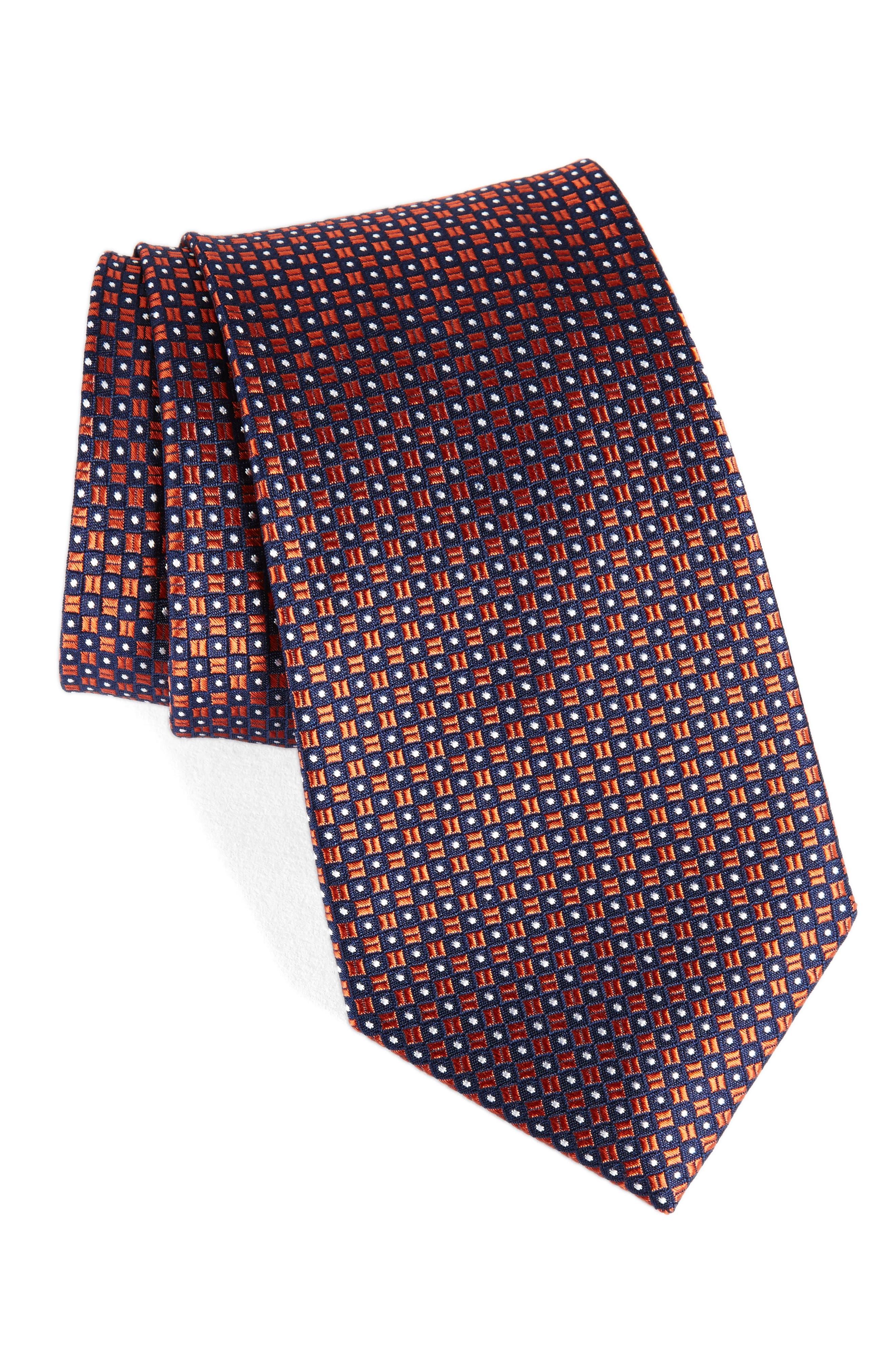 Nordstrom Men's Shop Purquet Pin Dot Silk Tie
