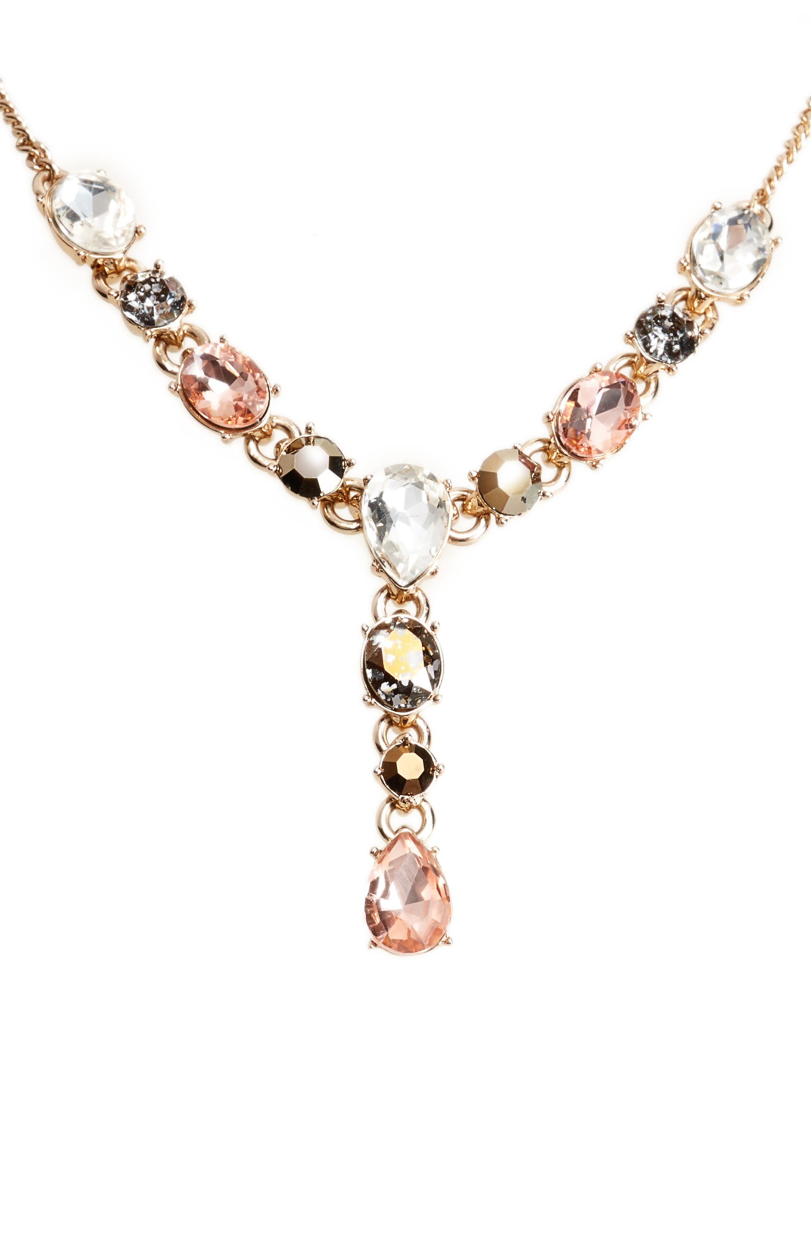 Givenchy Crystal Drop Necklace