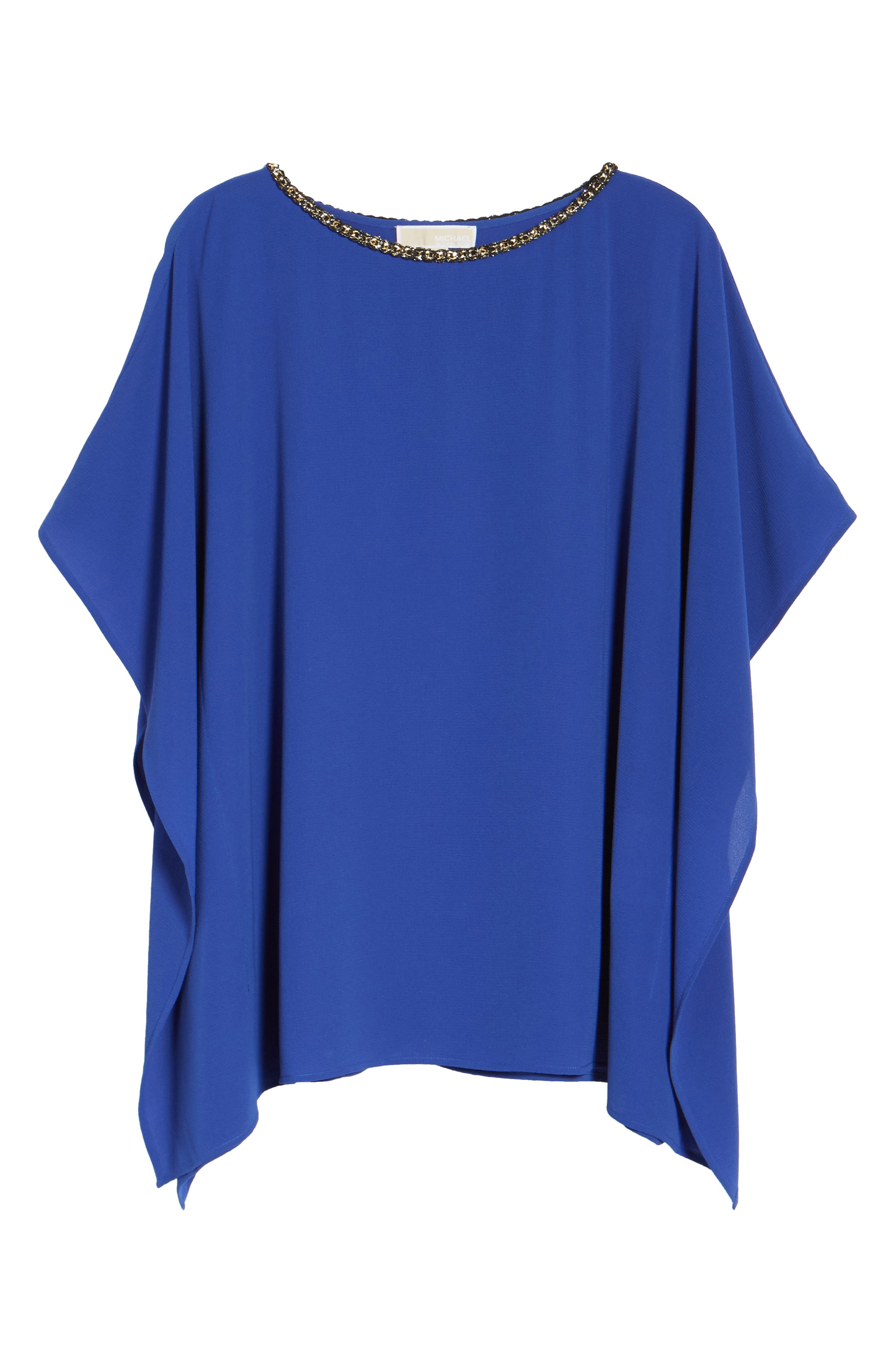 Chain Neck Top,                             Alternate thumbnail 6, color,                             Bright Royal