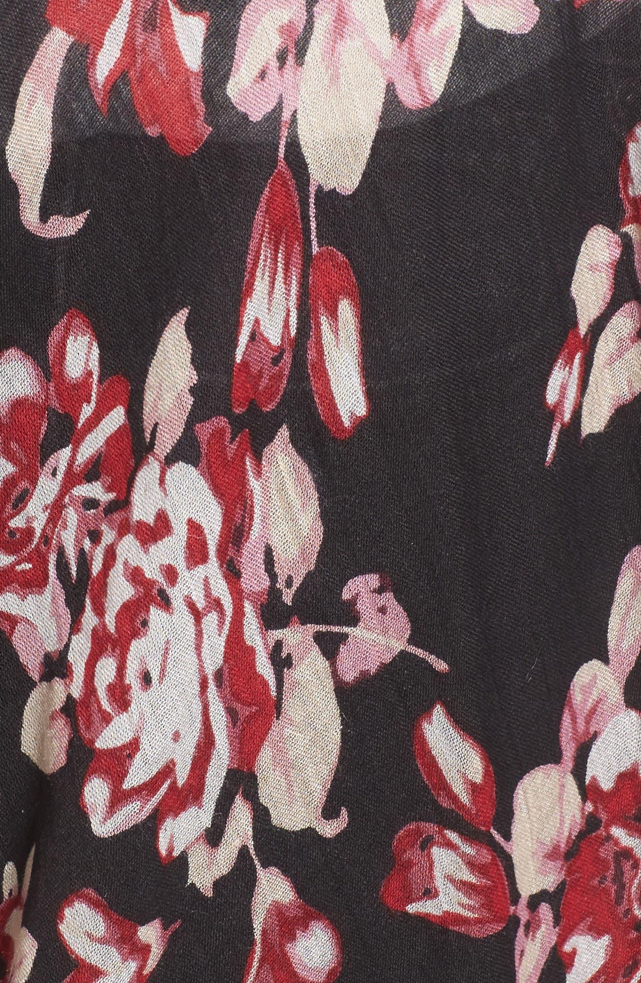 Floral Print Kimono,                             Alternate thumbnail 5, color,                             Multi