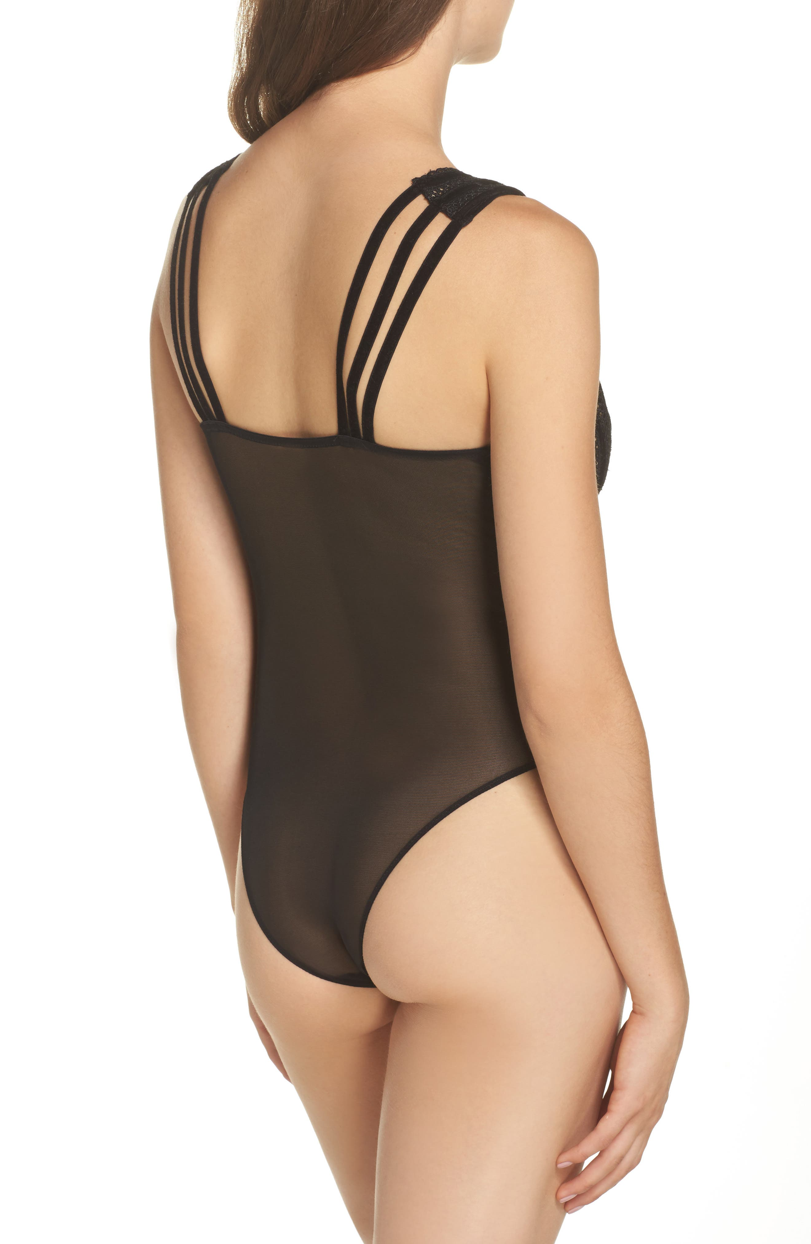 Cymbeline Sheer Bodysuit,                             Alternate thumbnail 2, color,                             Black