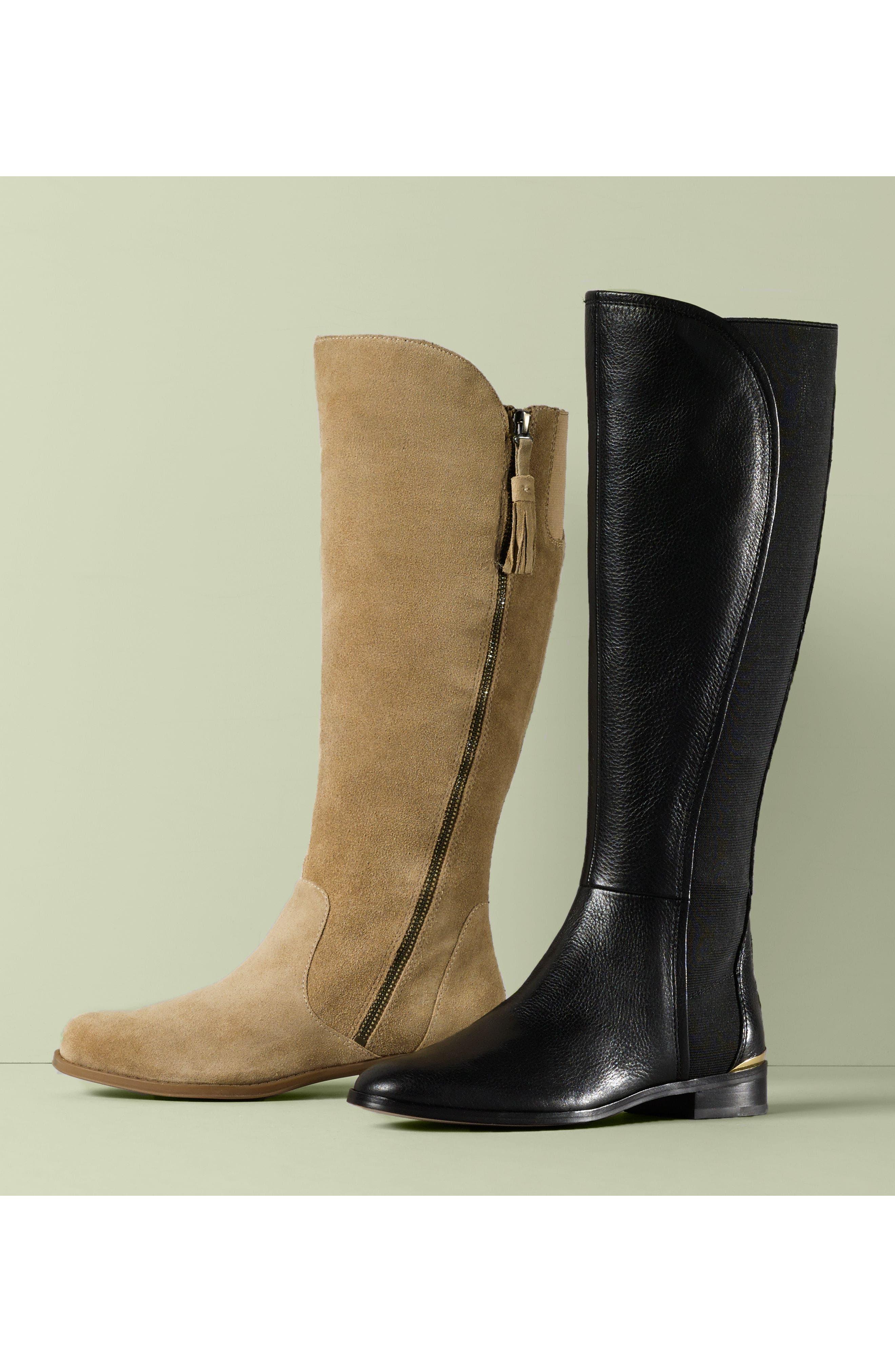 Vallery Elastic Back Knee High Boot,                             Alternate thumbnail 7, color,
