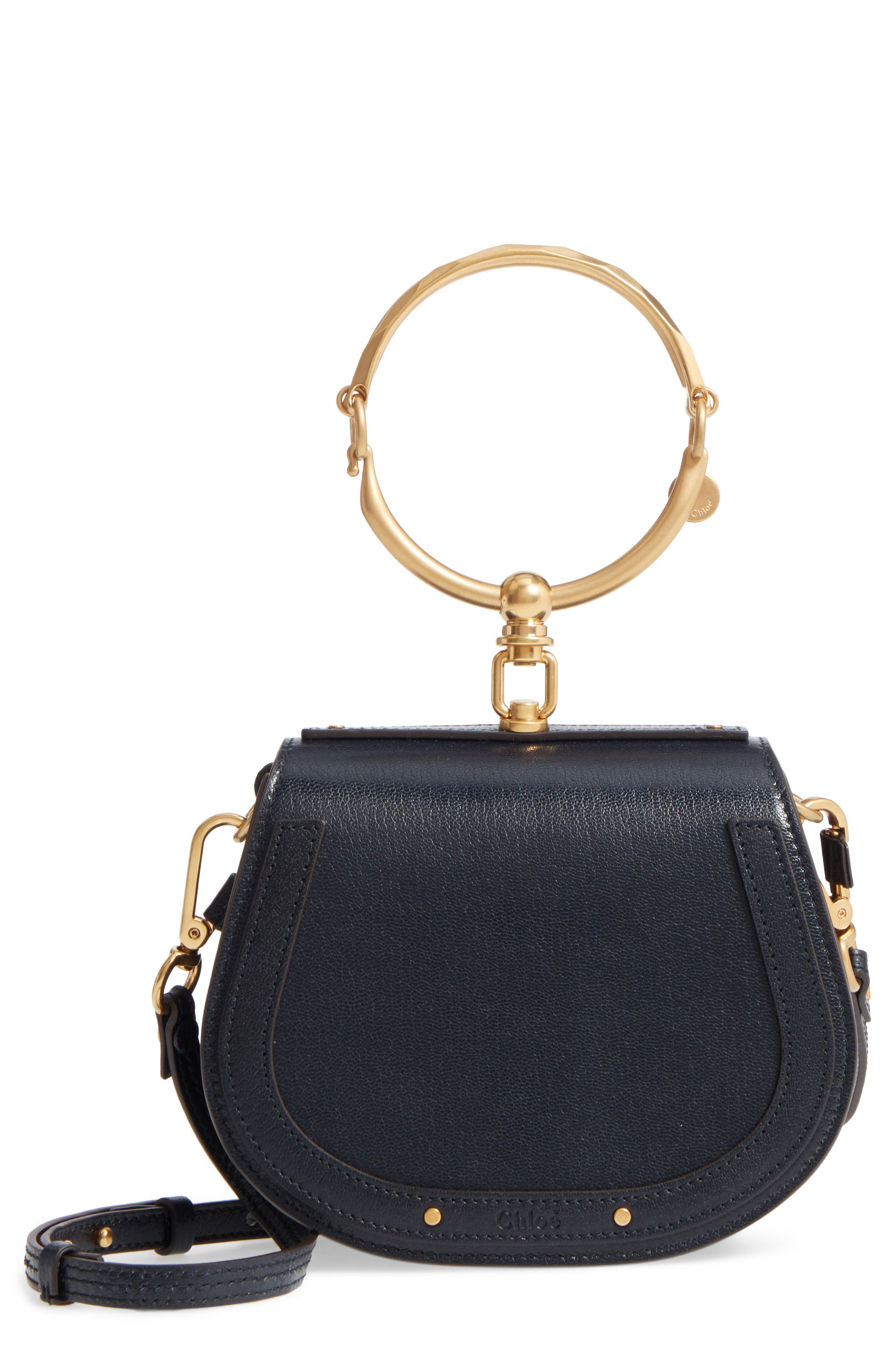 Small Nile Leather Crossbody Bag,                             Main thumbnail 1, color,                             Full Blue