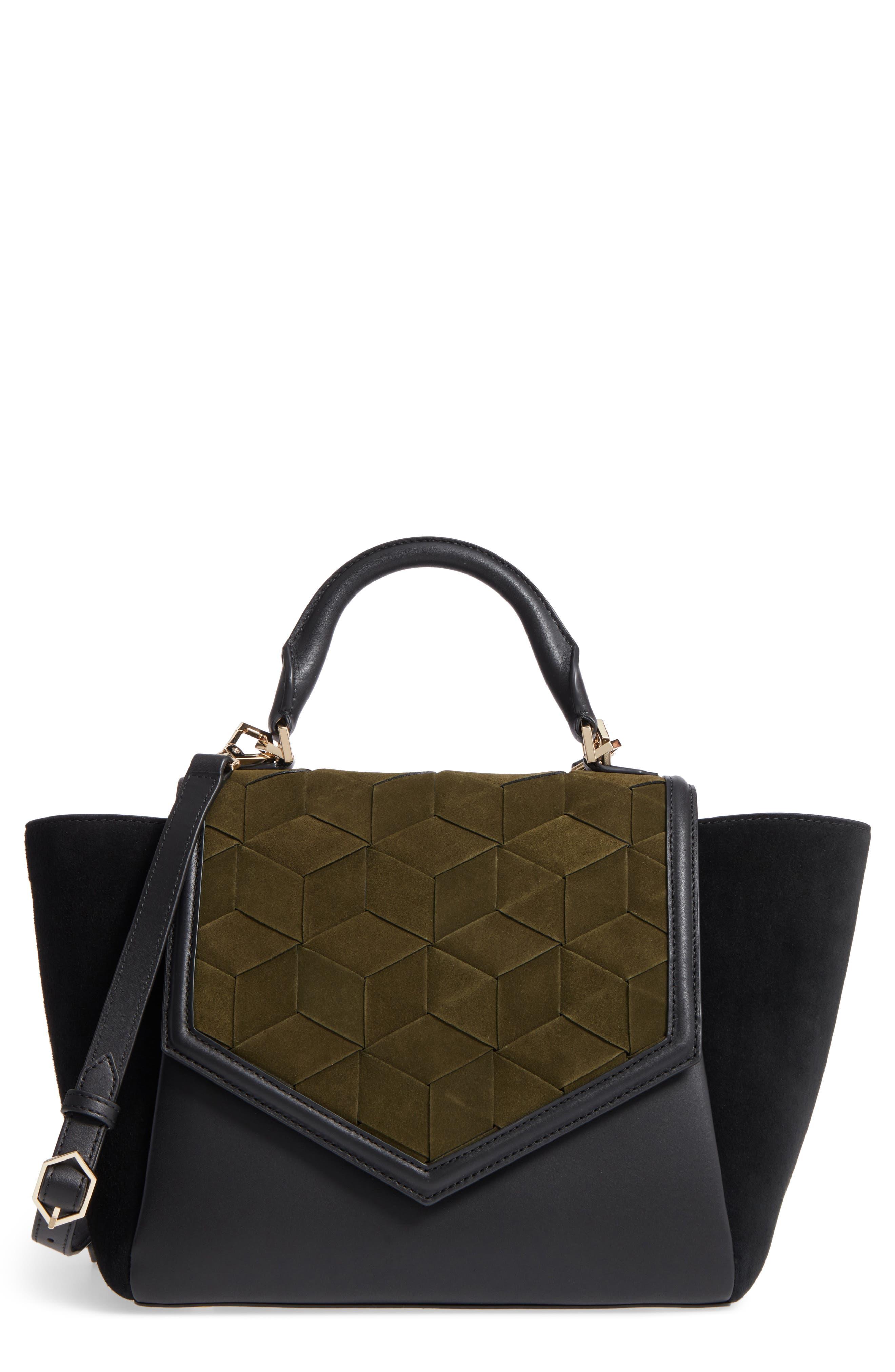 Alternate Image 1 Selected - WELDEN Saunter Colorblocked Leather & Suede Top Handle Satchel