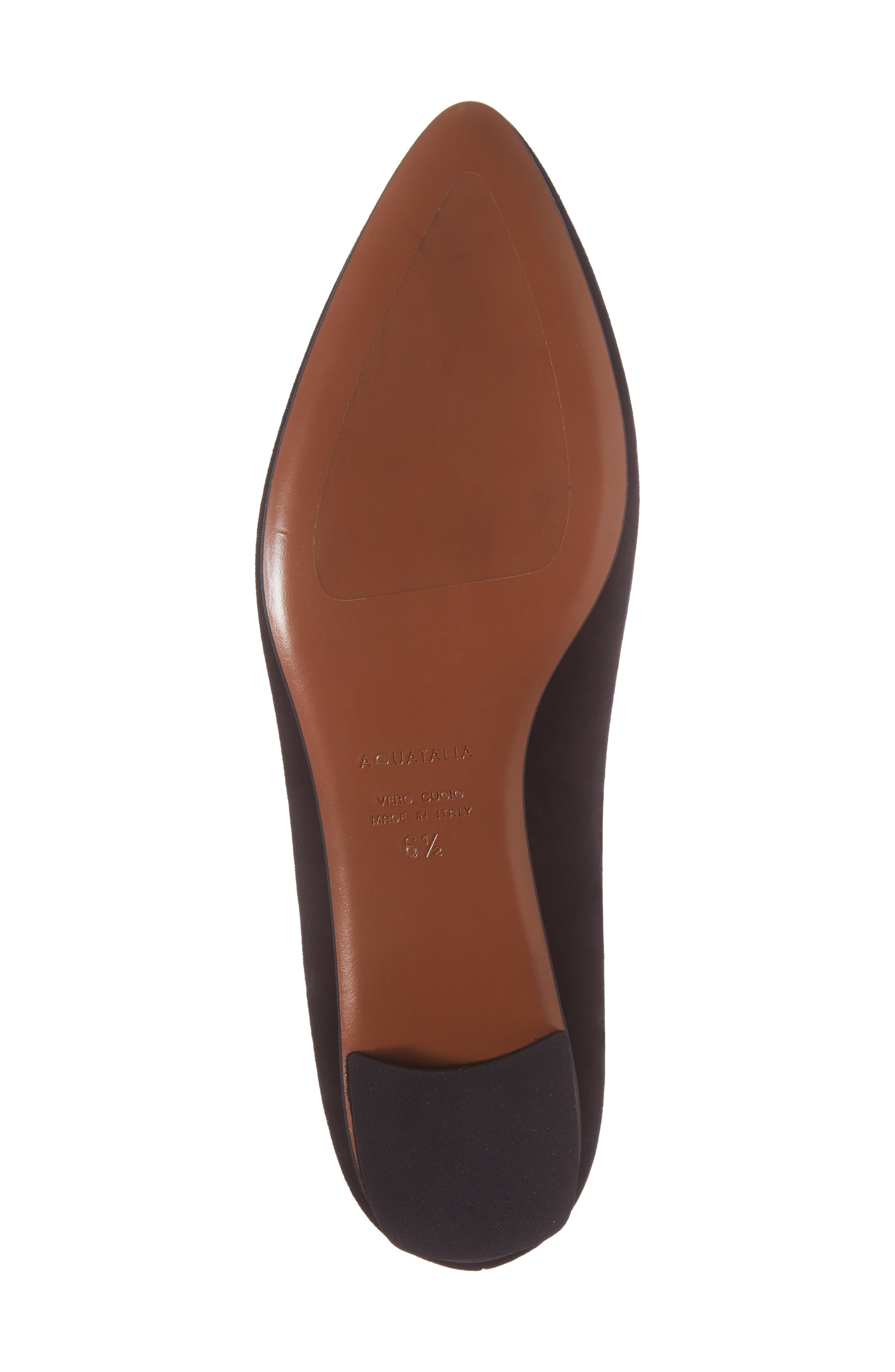 Perla Weatherproof Ballerina Shoe,                             Alternate thumbnail 6, color,                             Black Suede