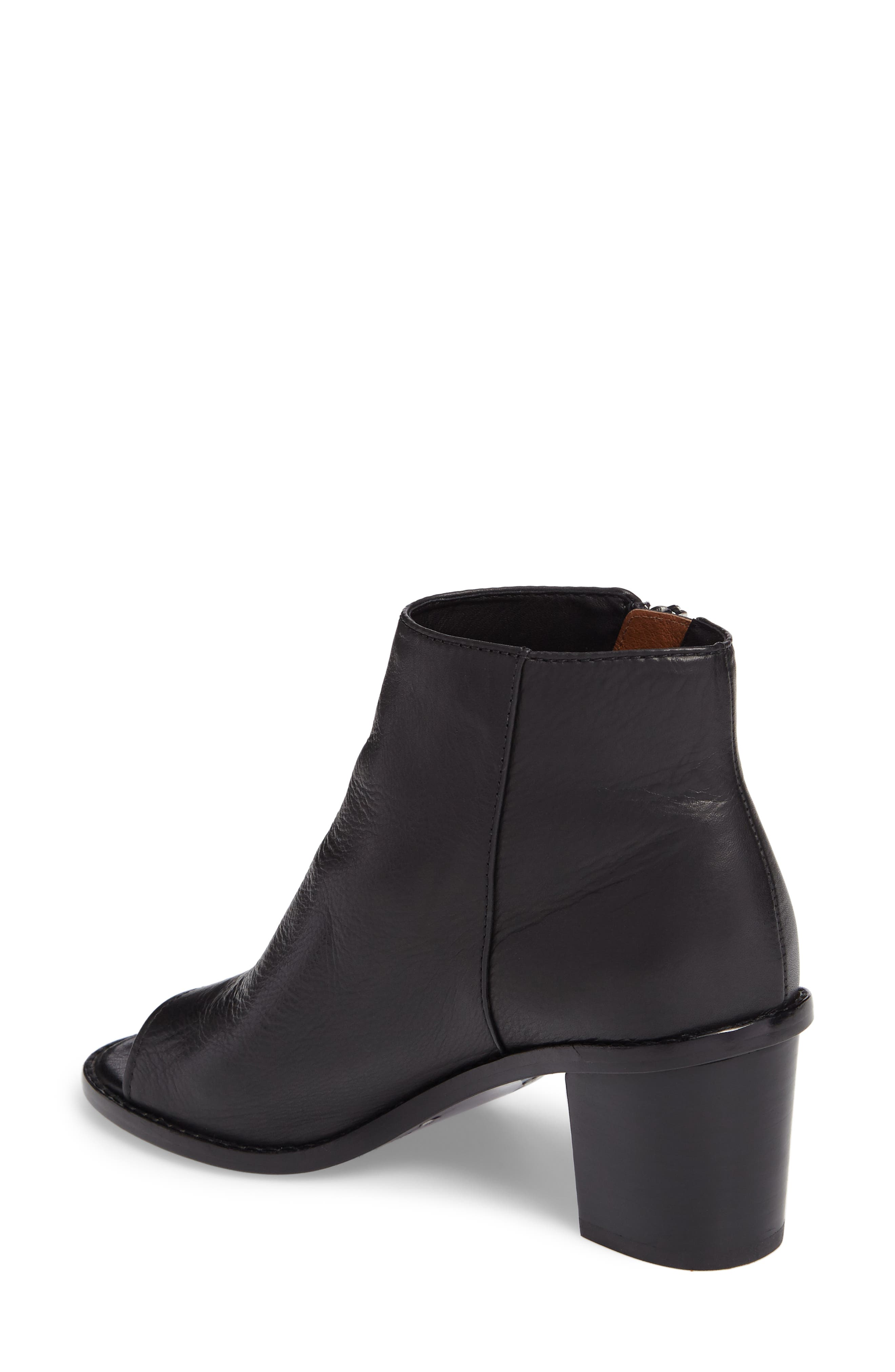Brielle Peep Toe Bootie,                             Alternate thumbnail 2, color,                             Black