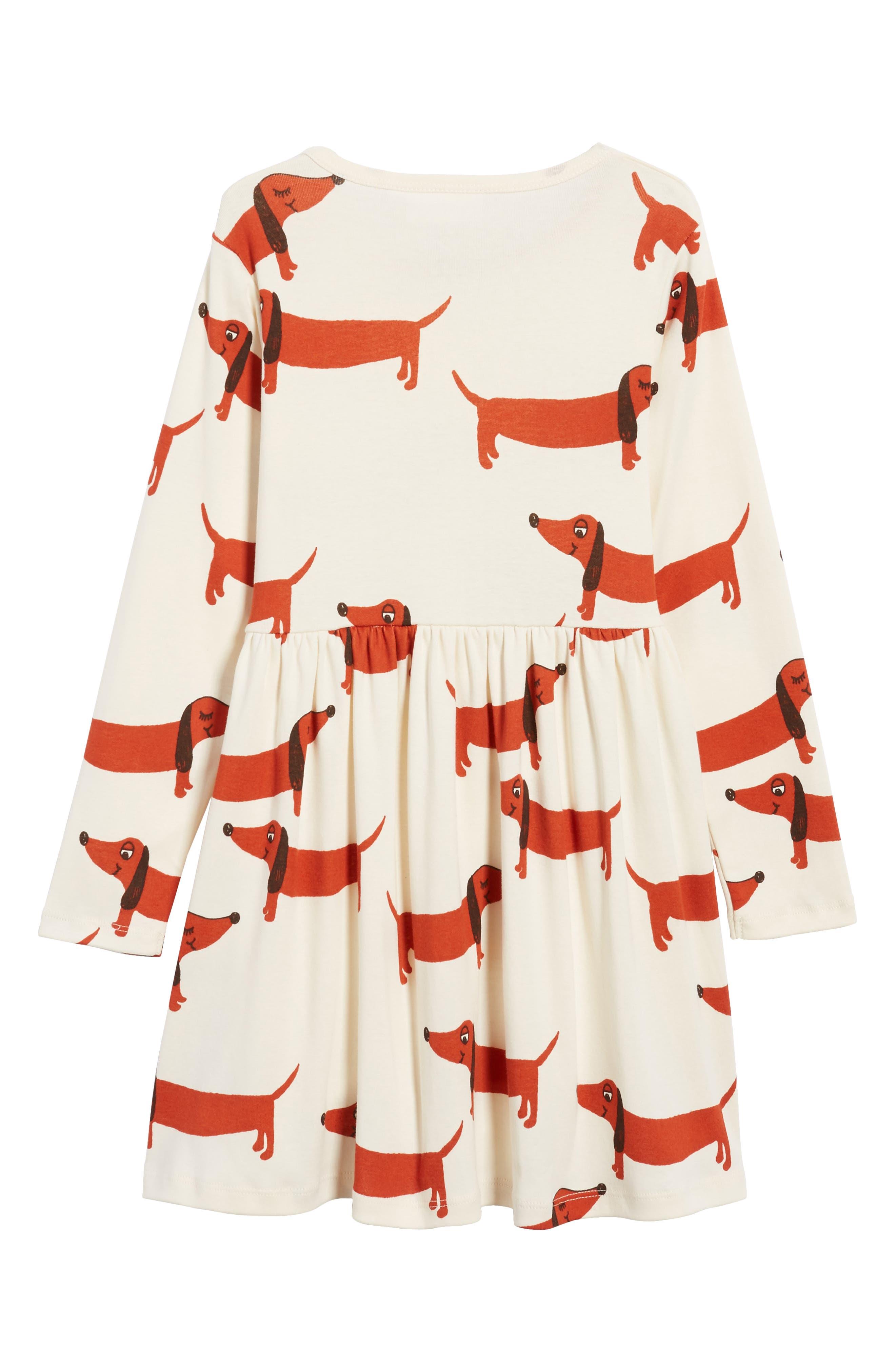 Alternate Image 2  - Mini Rodini Dogs Organic Cotton Dress (Toddler Girls & Little Girls)
