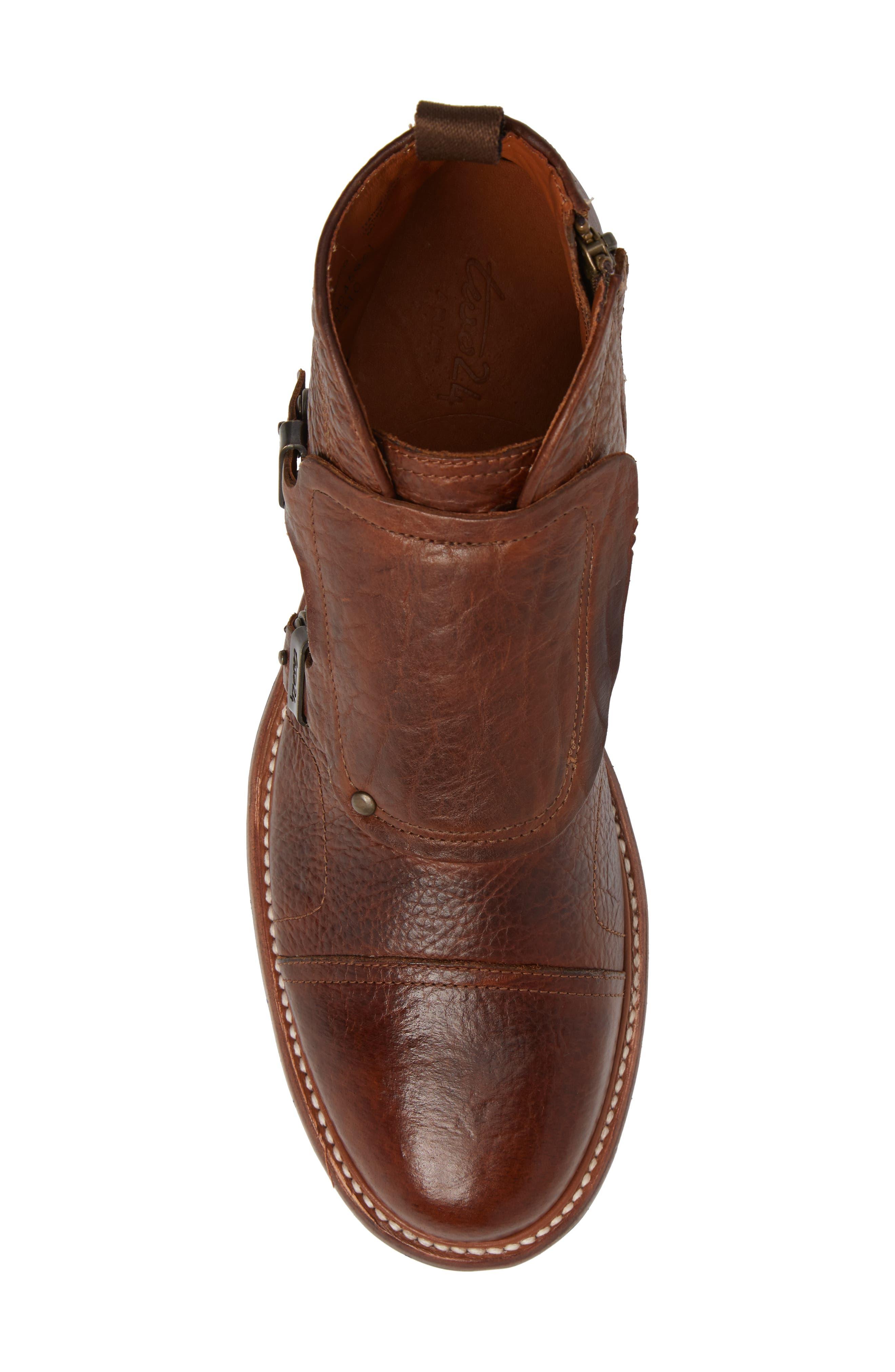 Montclair Zip Boot,                             Alternate thumbnail 5, color,                             Brown Leather