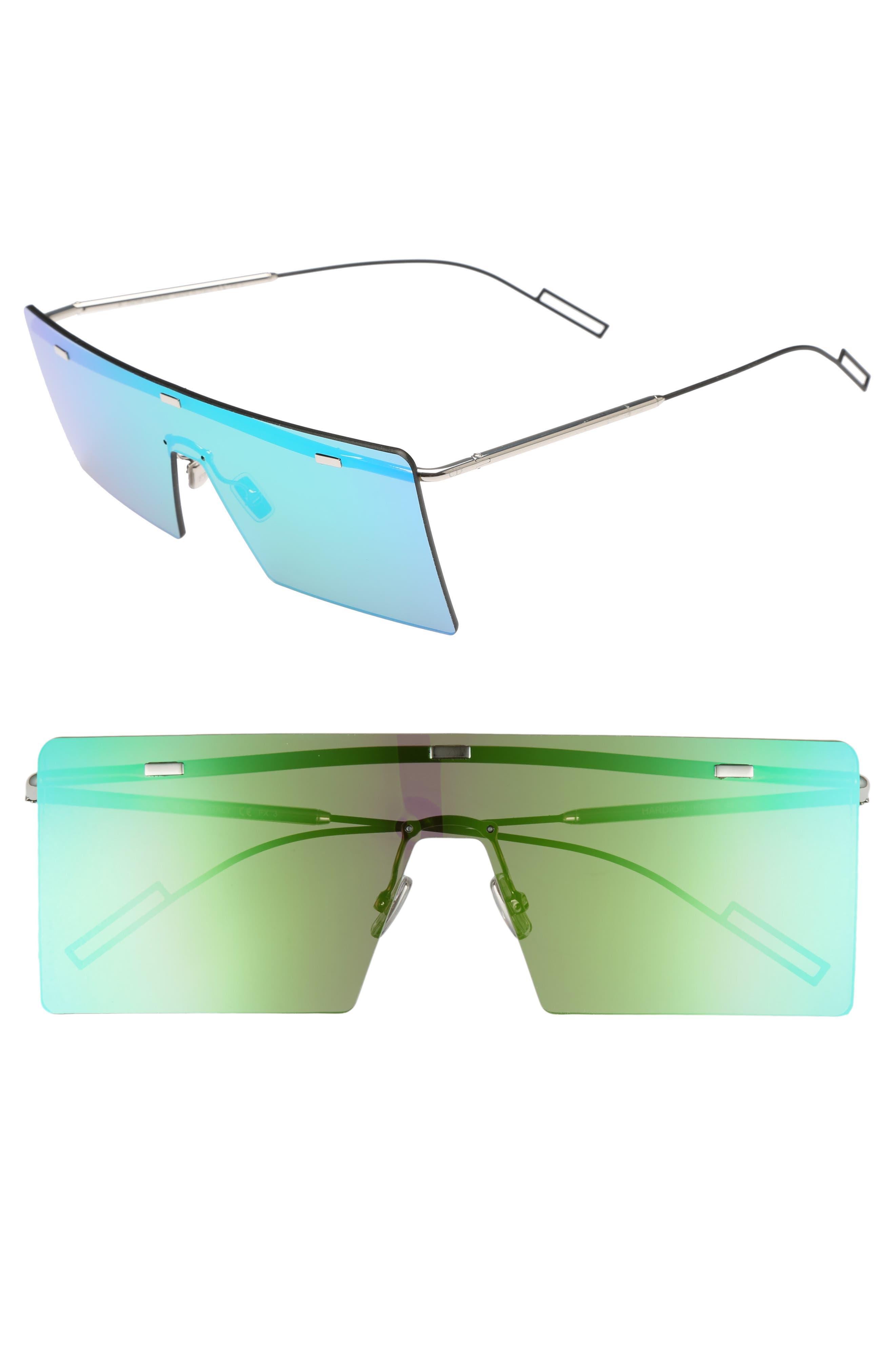 Hardior 65mm Sunglasses,                         Main,                         color, Palladium/ Green