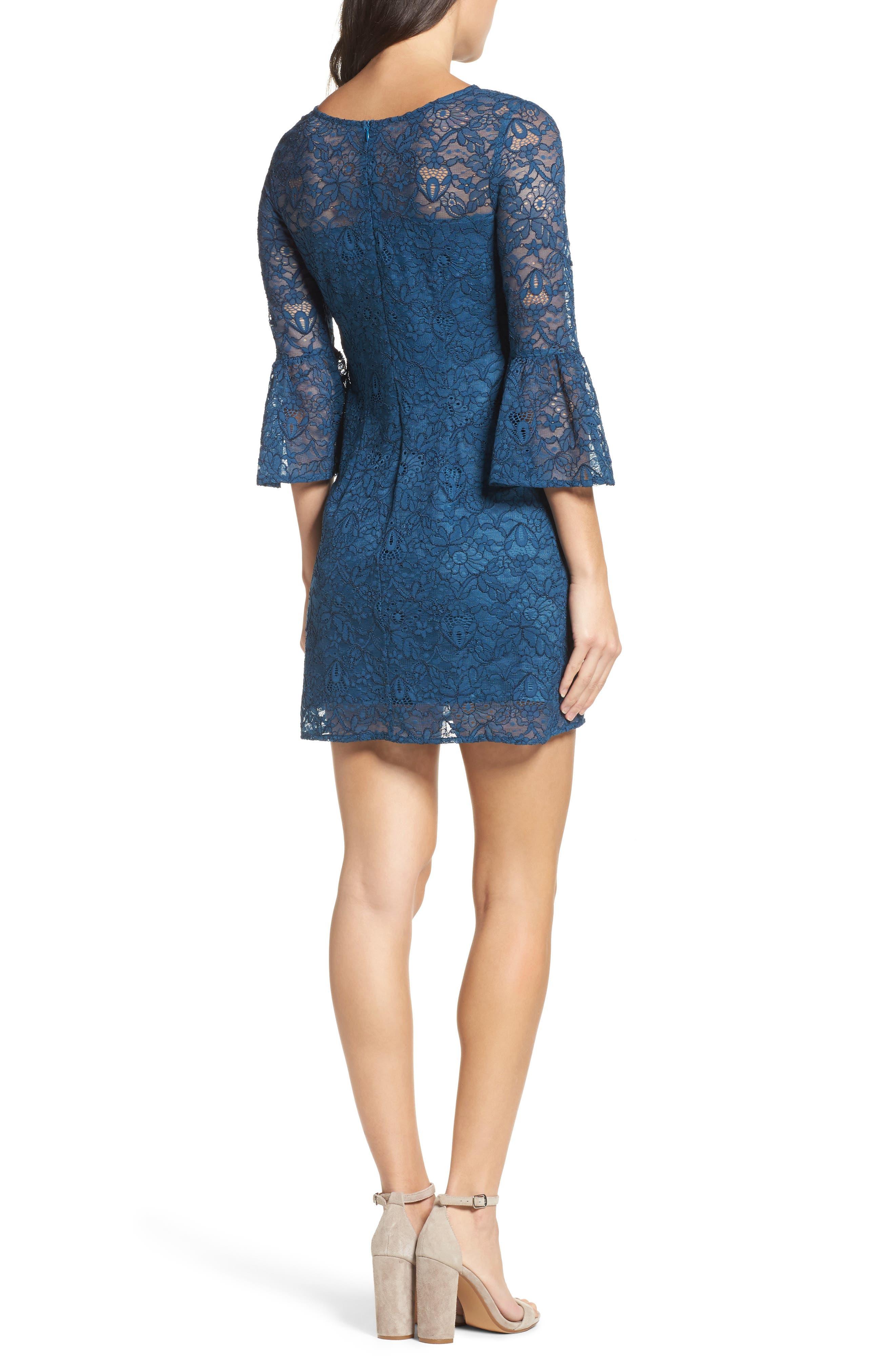 Alternate Image 2  - BB Dakota Billie Bell Sleeve Lace Dress