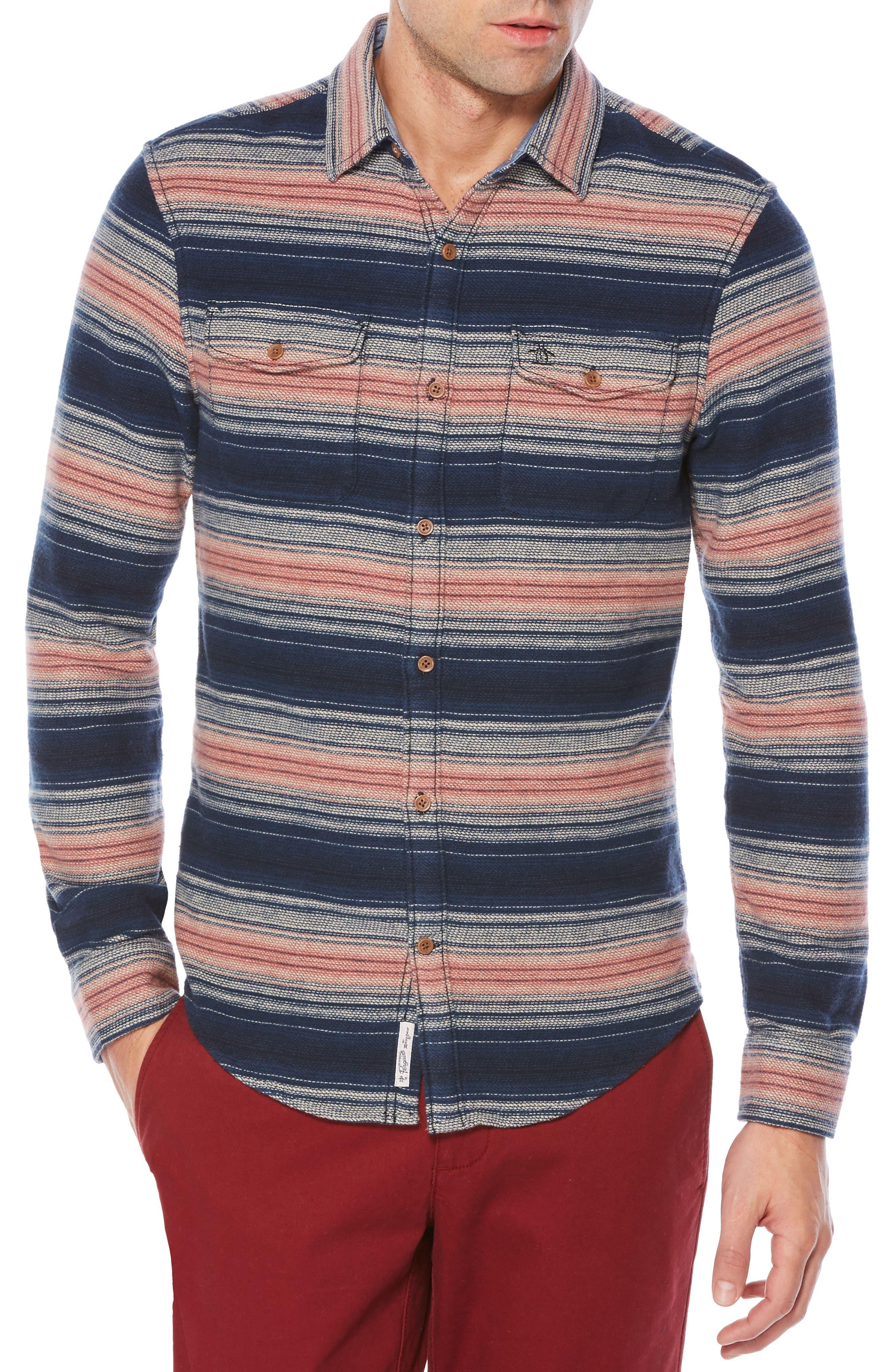 Main Image - Original Penguin Brushed Flannel Shirt