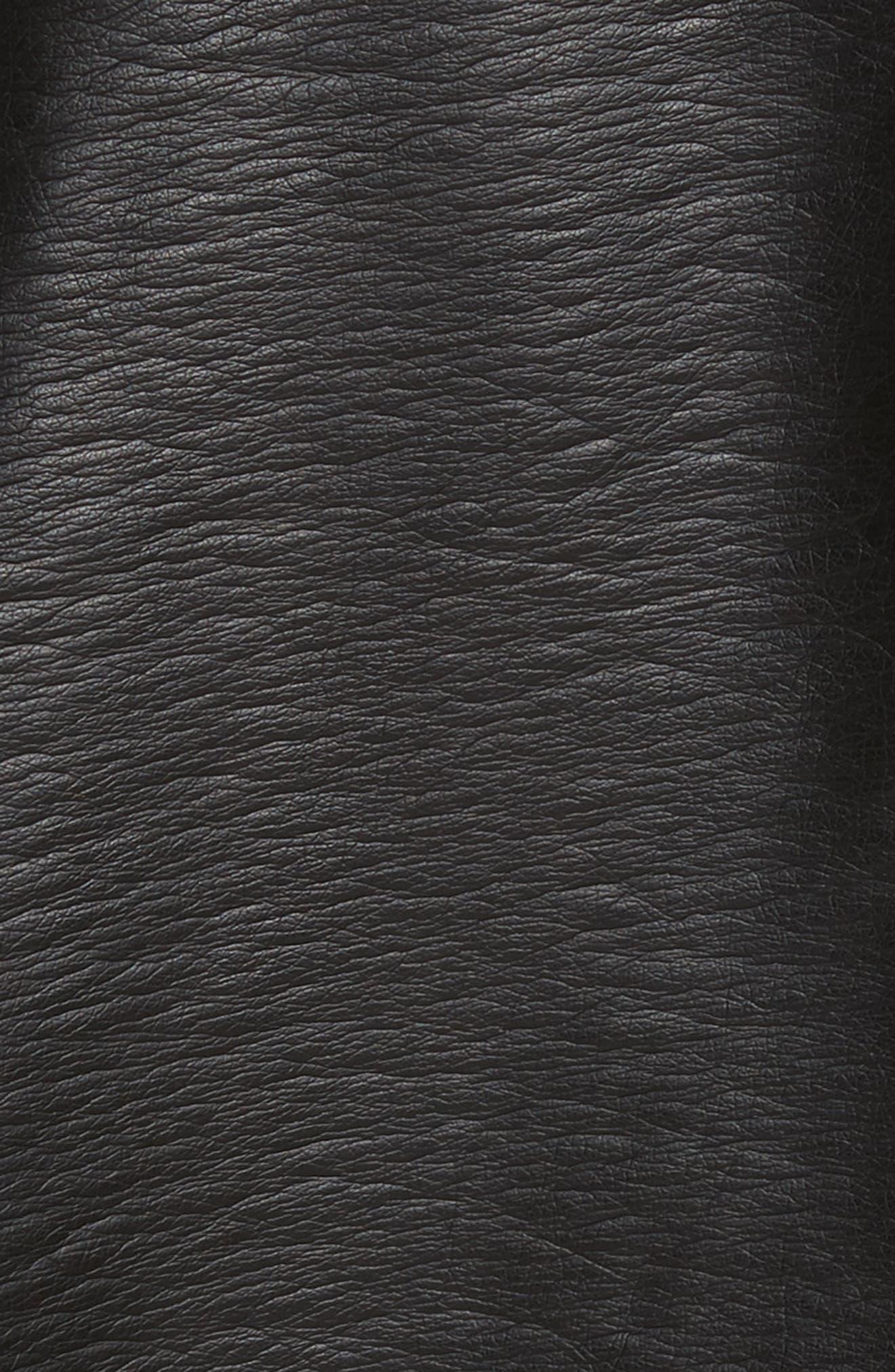 Halen Faux Leather Moto Jacket,                             Alternate thumbnail 5, color,                             Black