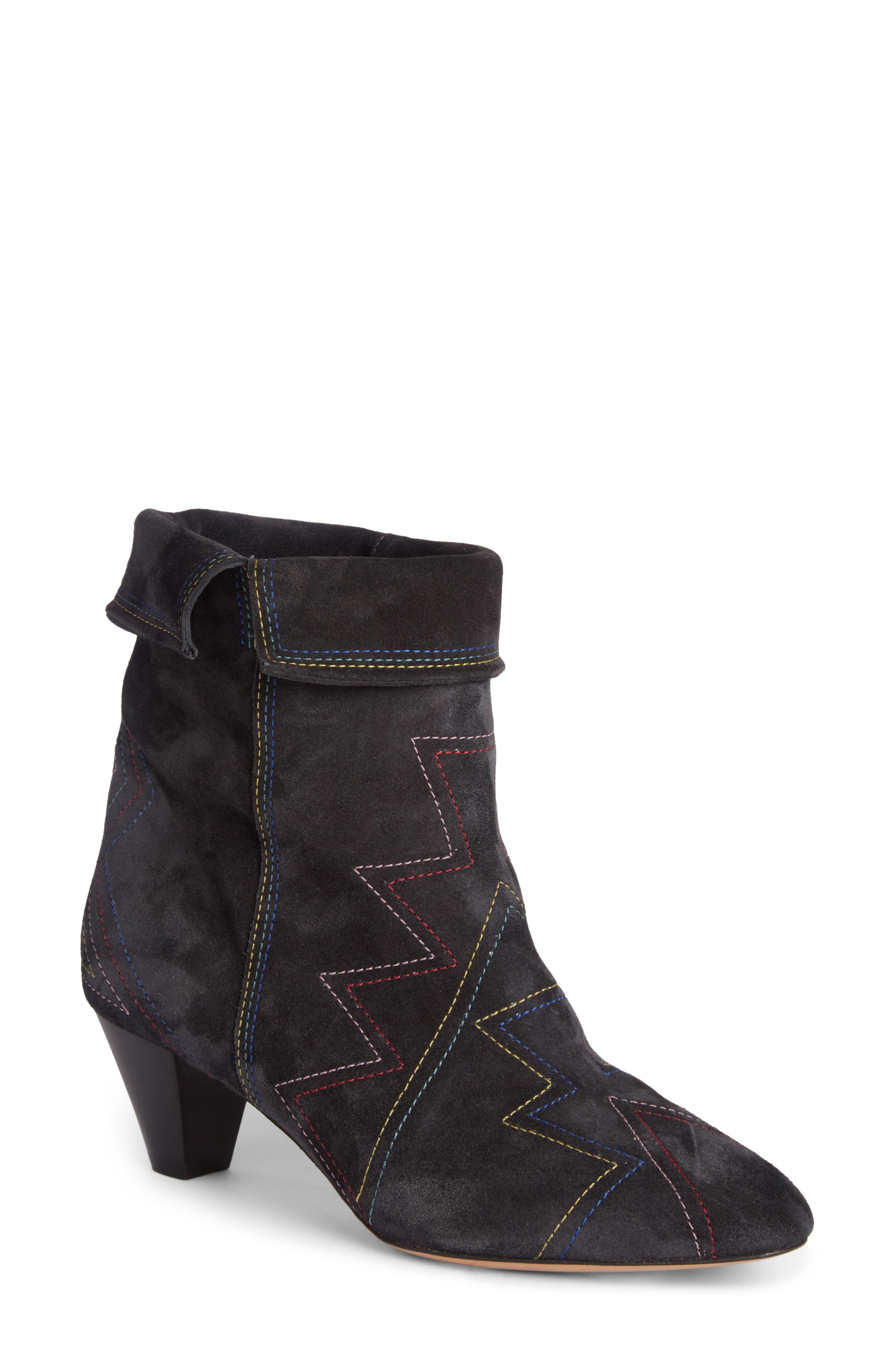 Dyna Topstitched Boot,                             Main thumbnail 1, color,                             Faded Black