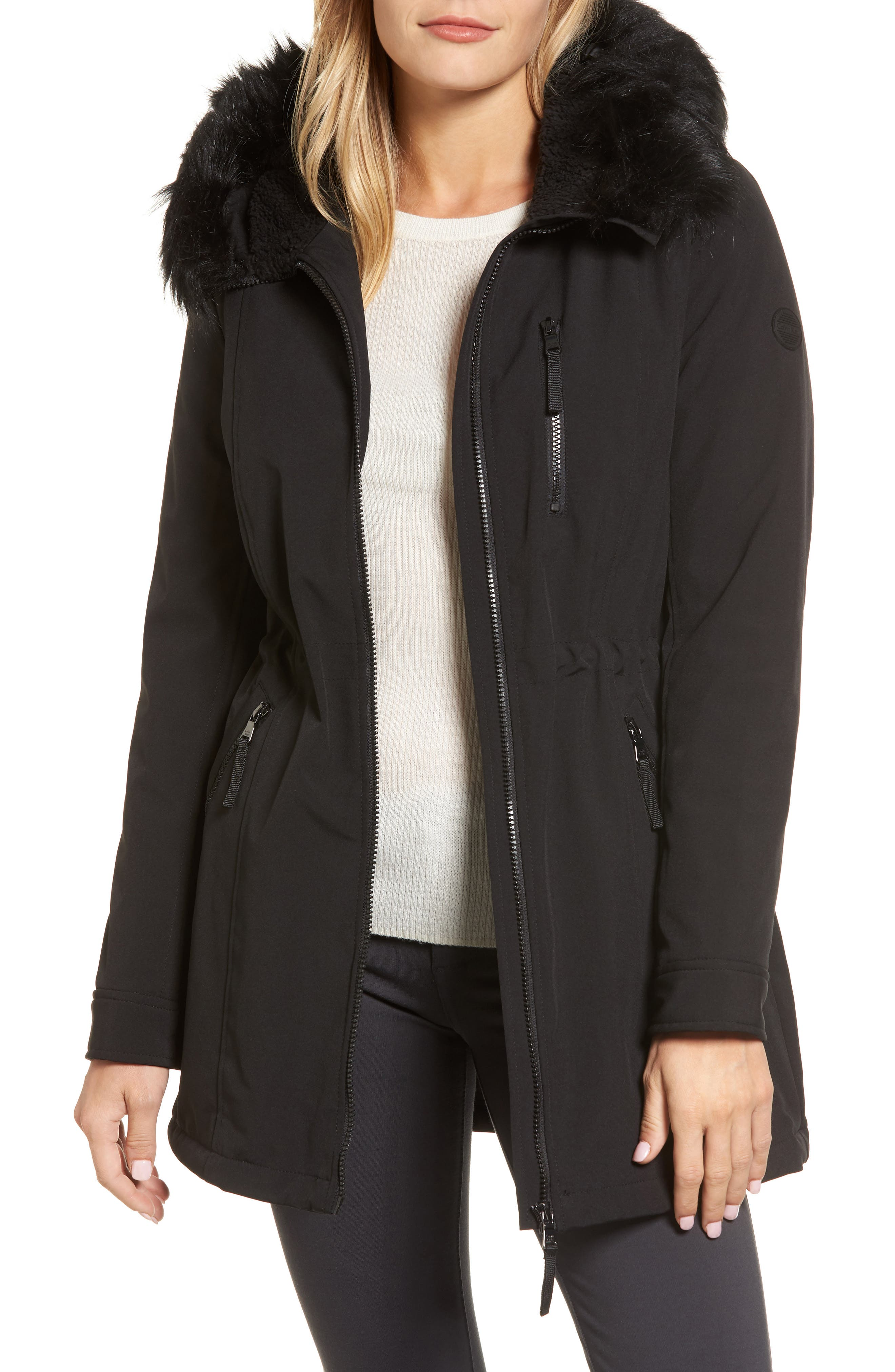 Soft Shell Anorak Jacket,                             Main thumbnail 1, color,                             Black