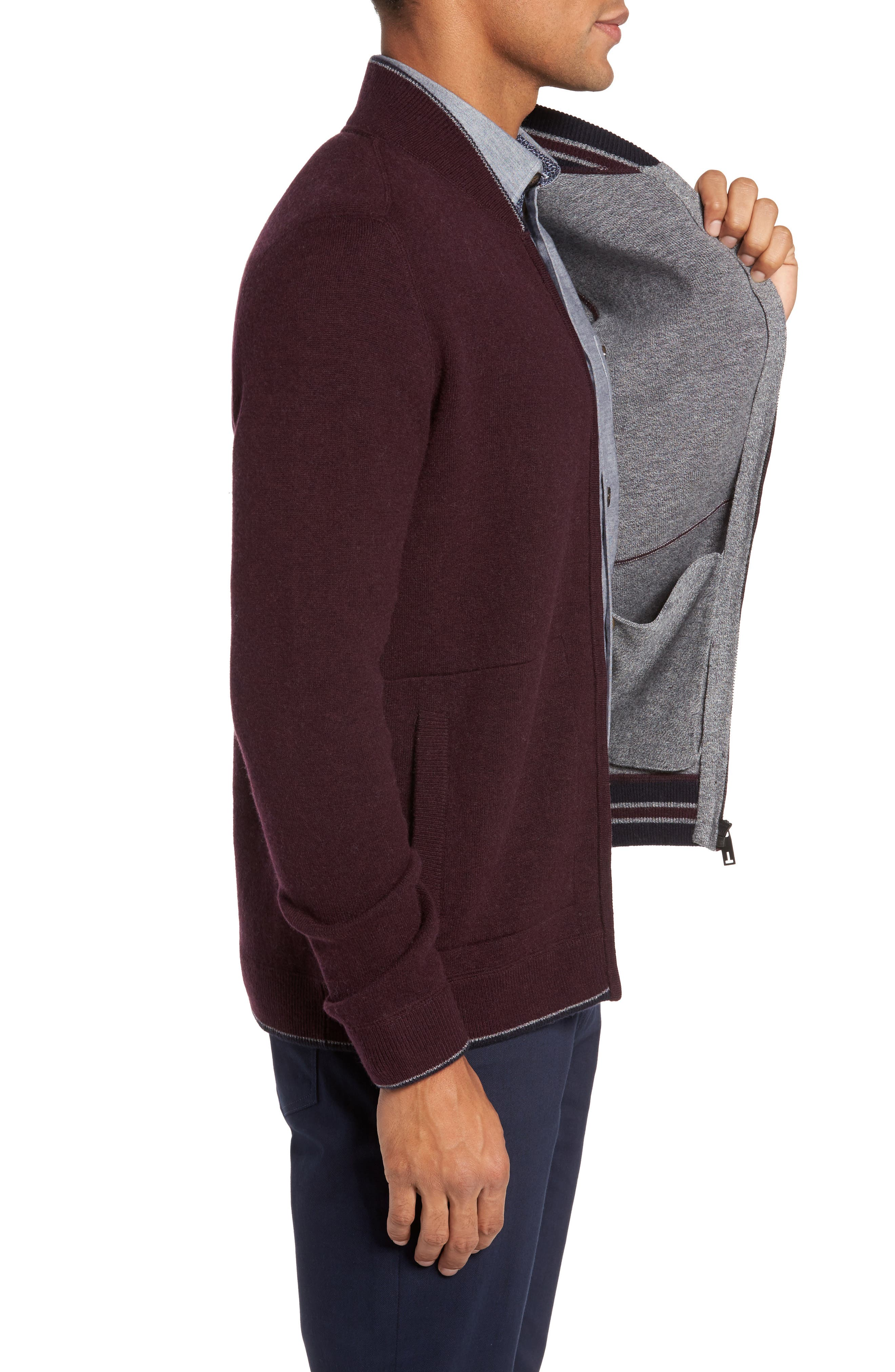 Alternate Image 3  - Ted Baker London Merino Wool Baseball Sweater