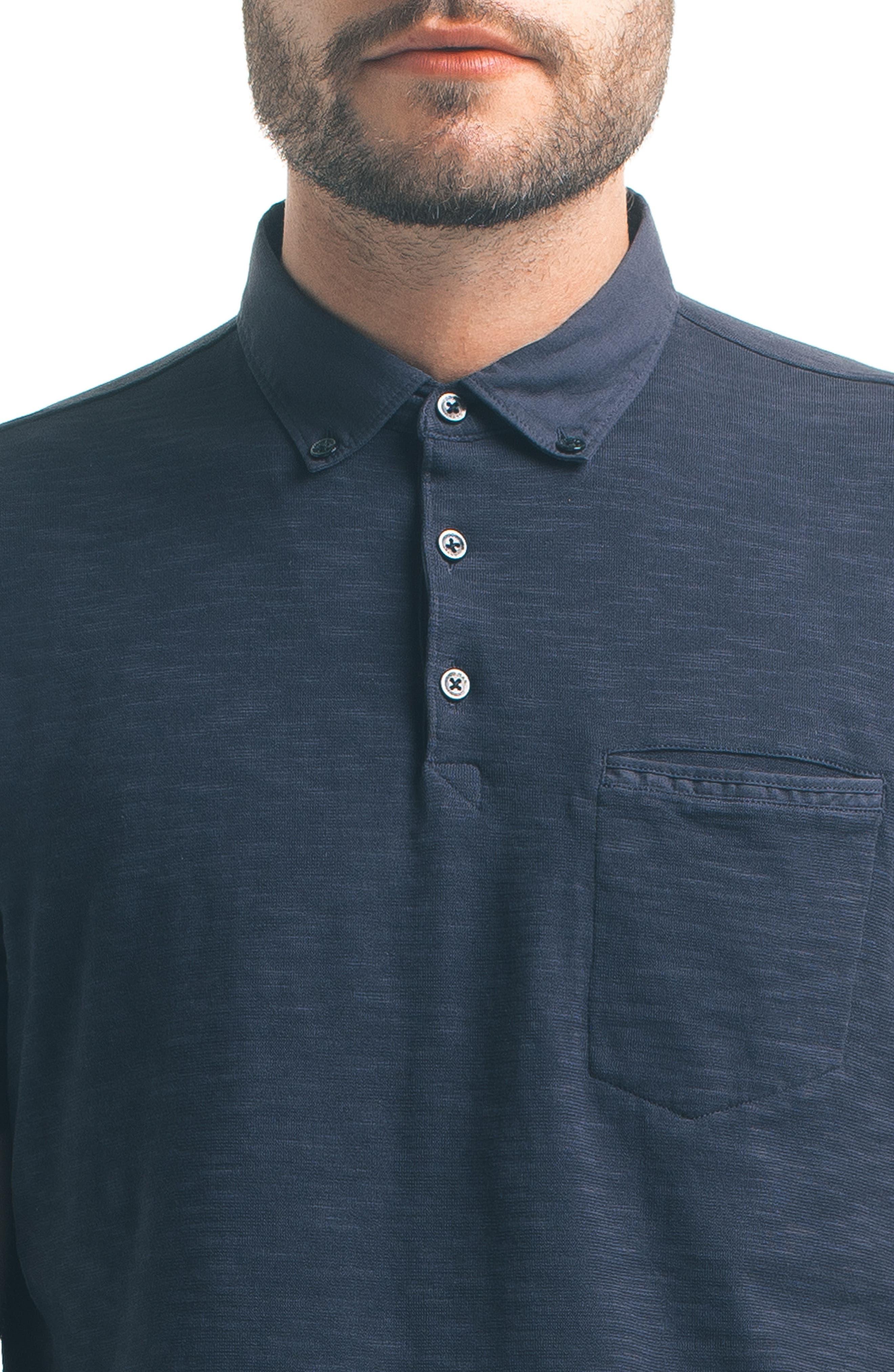 Alternate Image 4  - Good Man Brand Woven Collar Polo