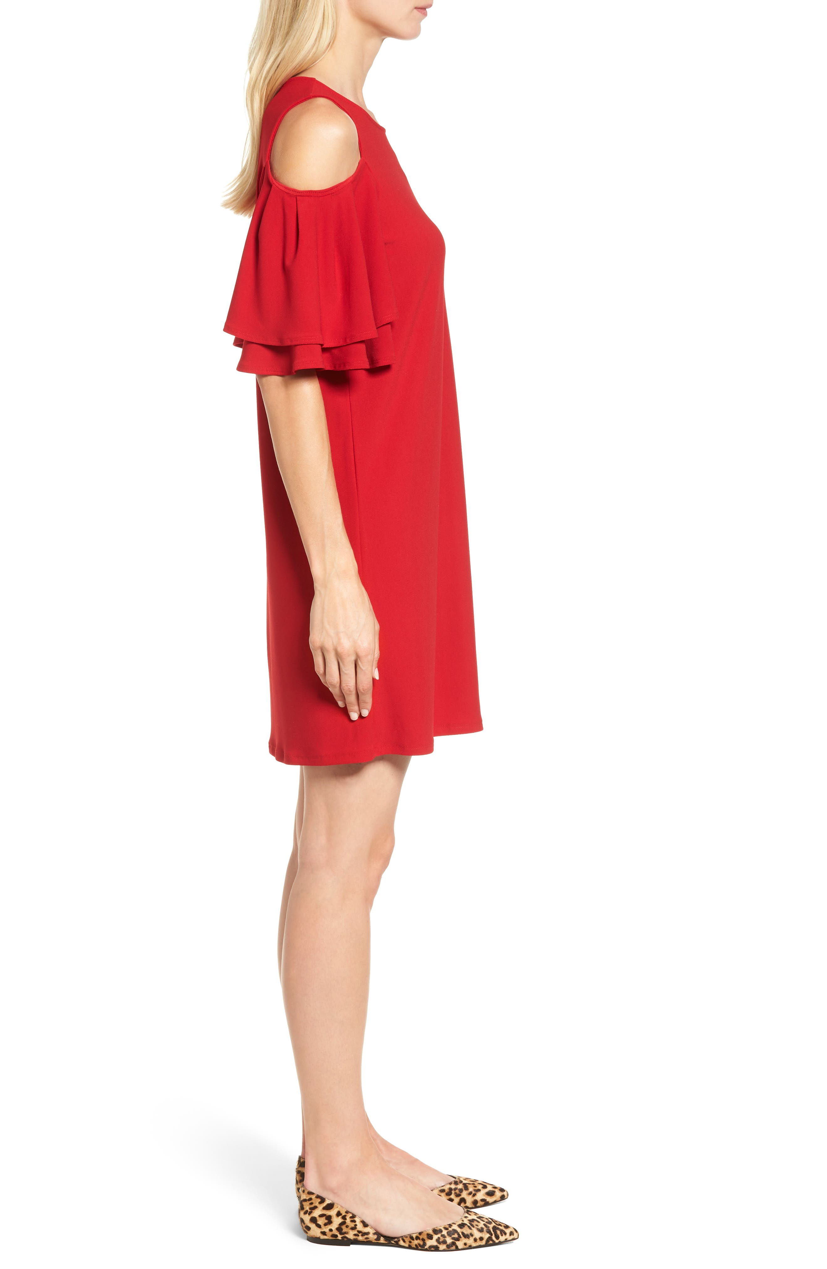 Alternate Image 3  - Halogen® Cold Shoulder Shift Dress