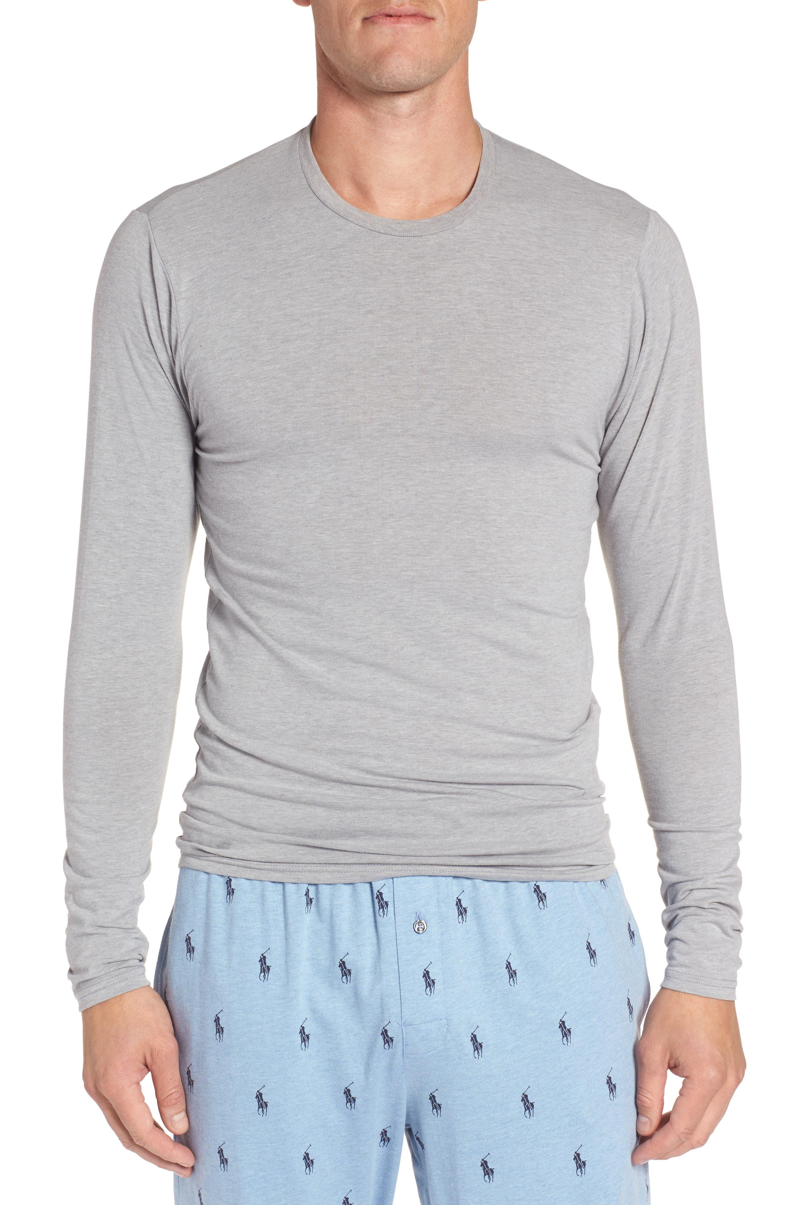 Long Sleeve T-Shirt,                         Main,                         color, Andover Grey