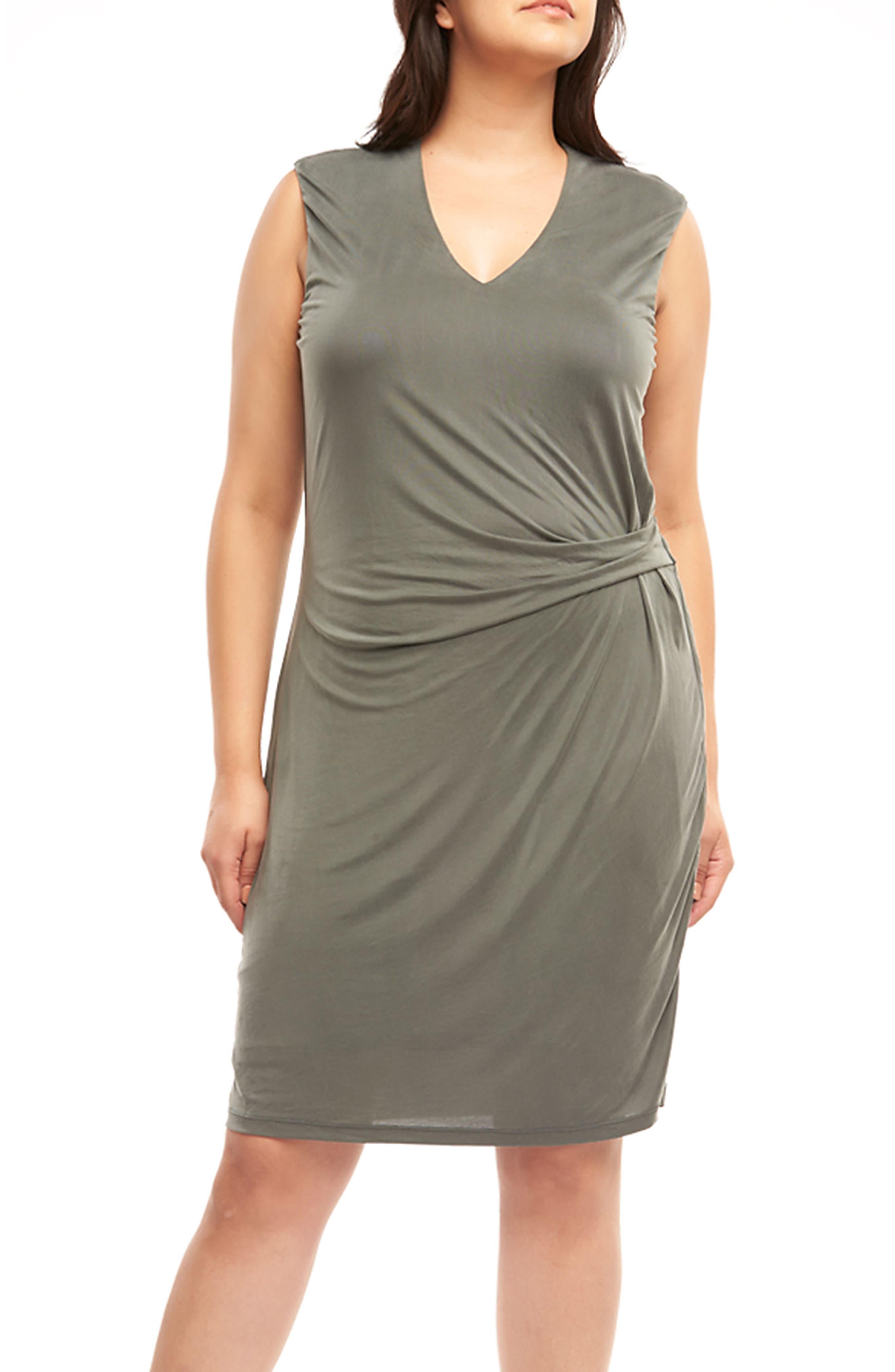 Annetta Ruched Sheath Dress,                             Alternate thumbnail 4, color,                             Urban Chic