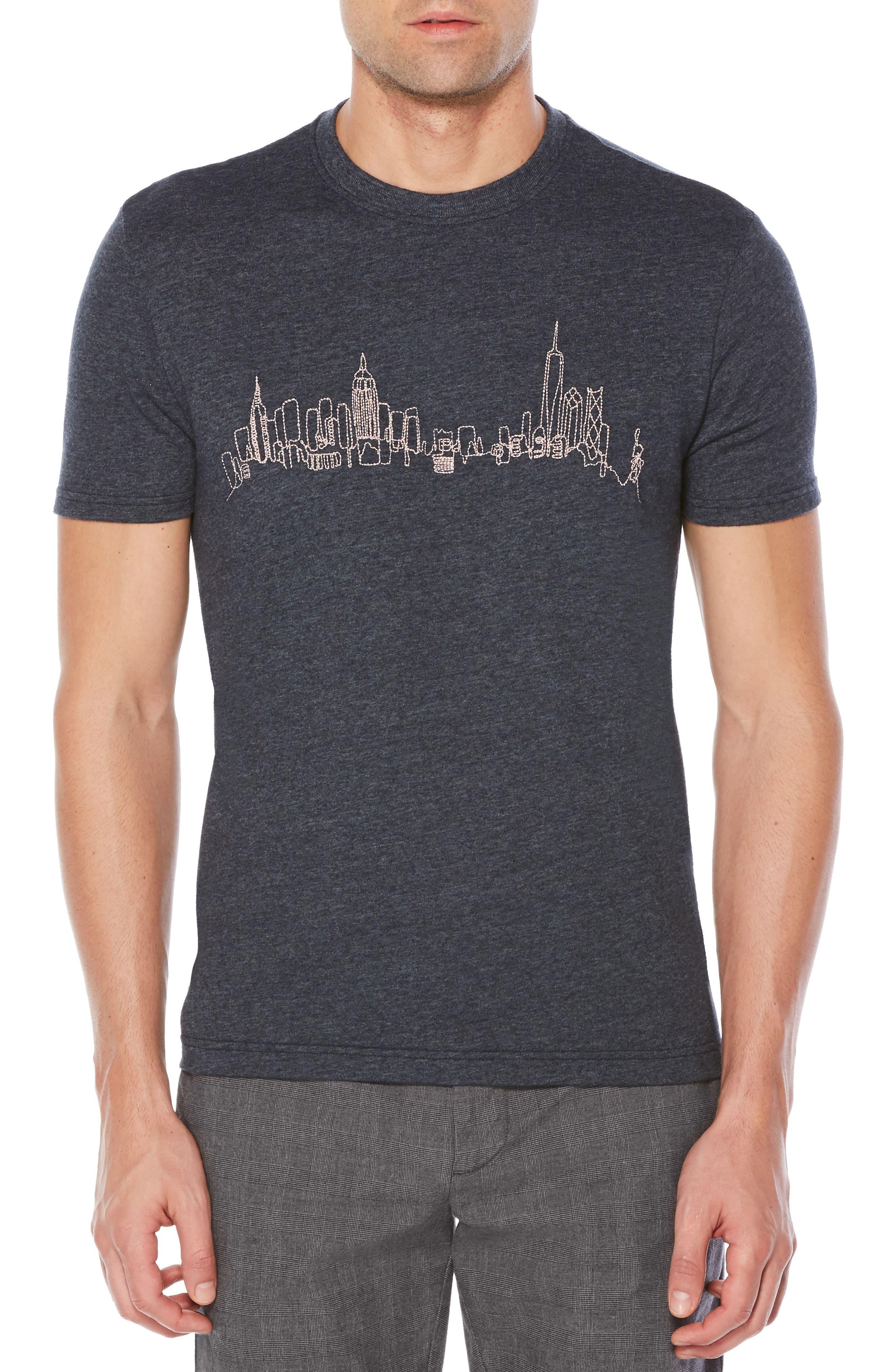Original Penguin Embroidered NYC Skyline T-Shirt