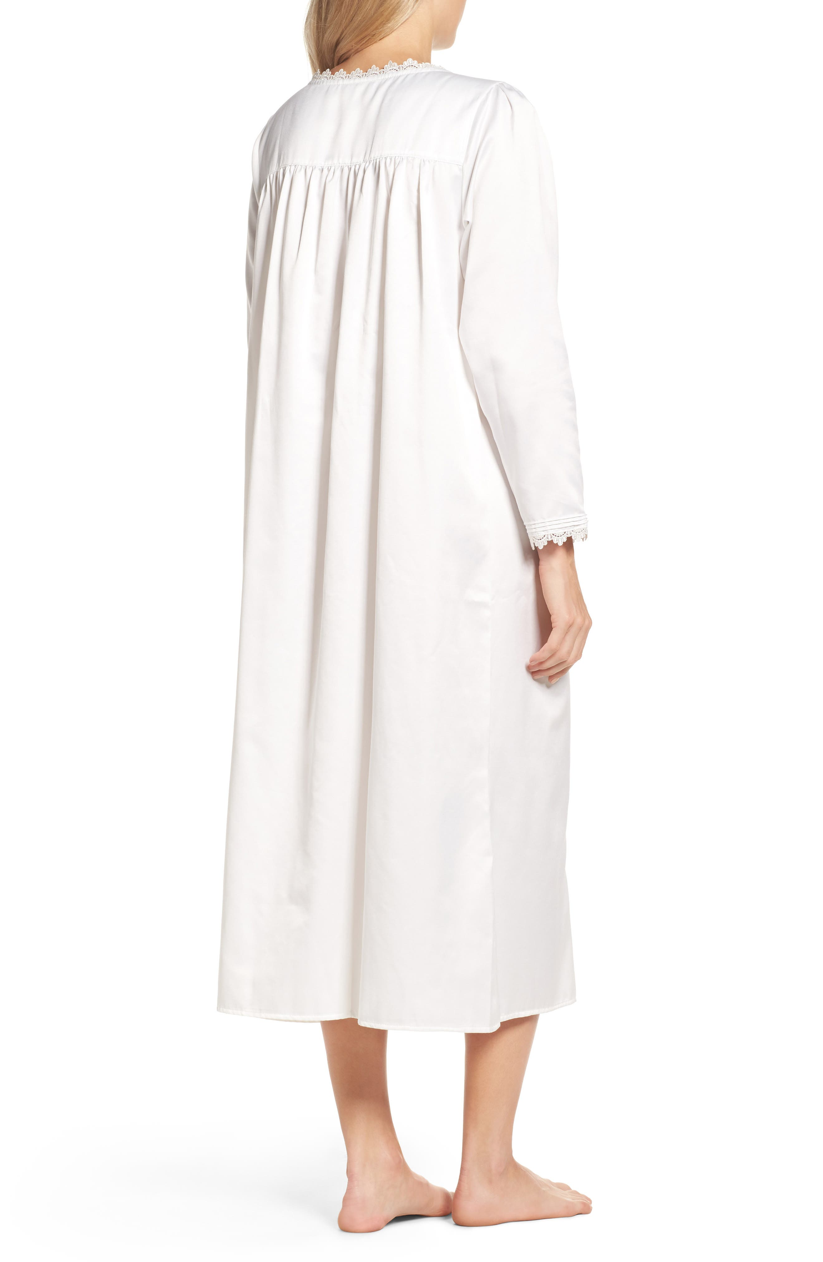 Nightgown,                             Alternate thumbnail 2, color,                             Solid Winter White
