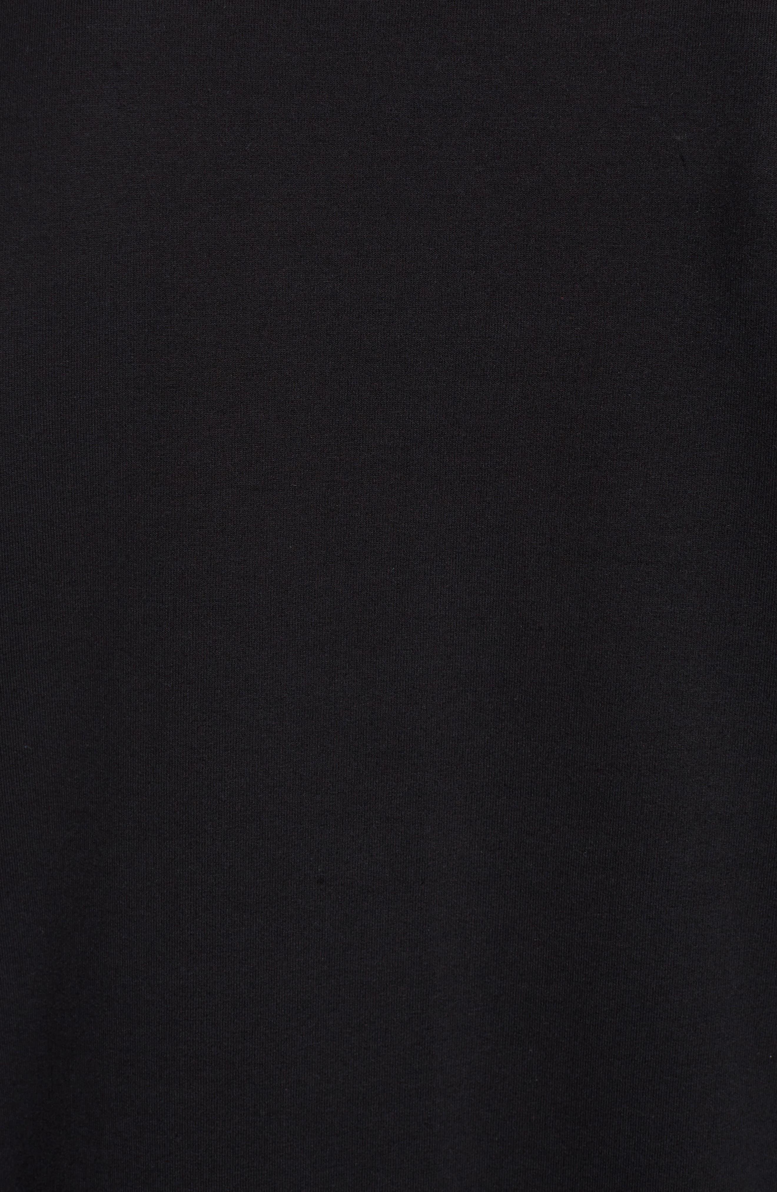 Embroidered Logo Sweatshirt,                             Alternate thumbnail 5, color,                             Black