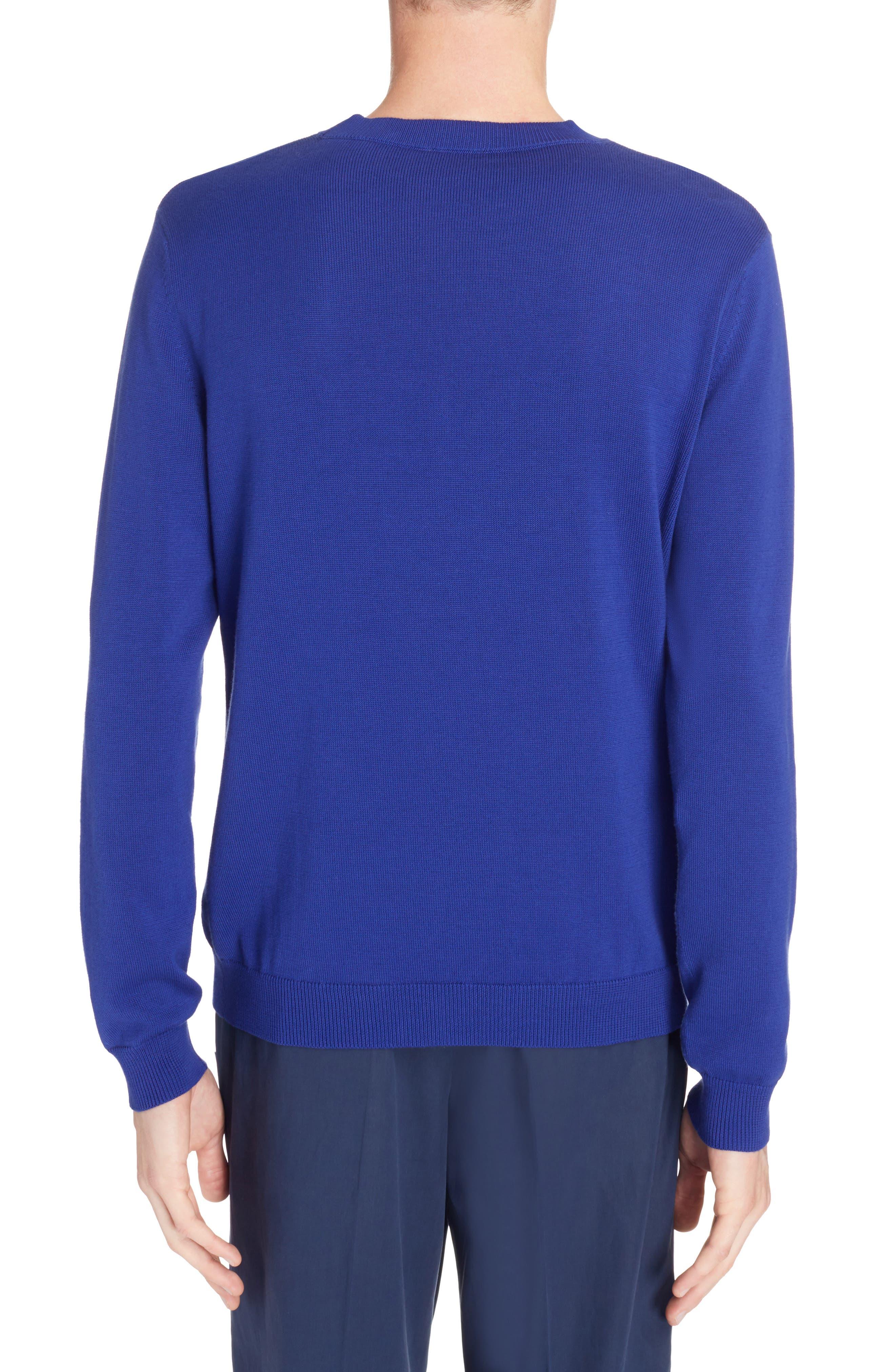 Logo Stripe Sweater,                             Alternate thumbnail 2, color,                             French Blue