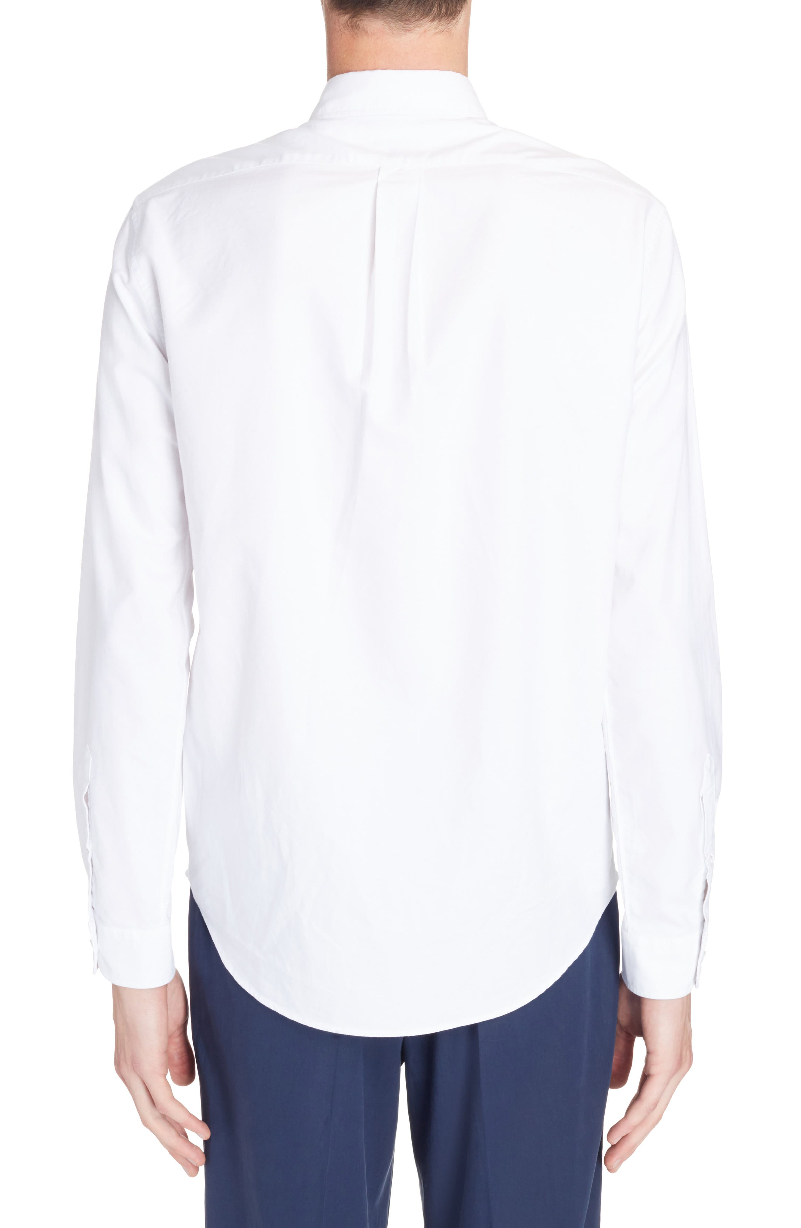 Knit Logo Woven Shirt,                             Alternate thumbnail 3, color,                             White