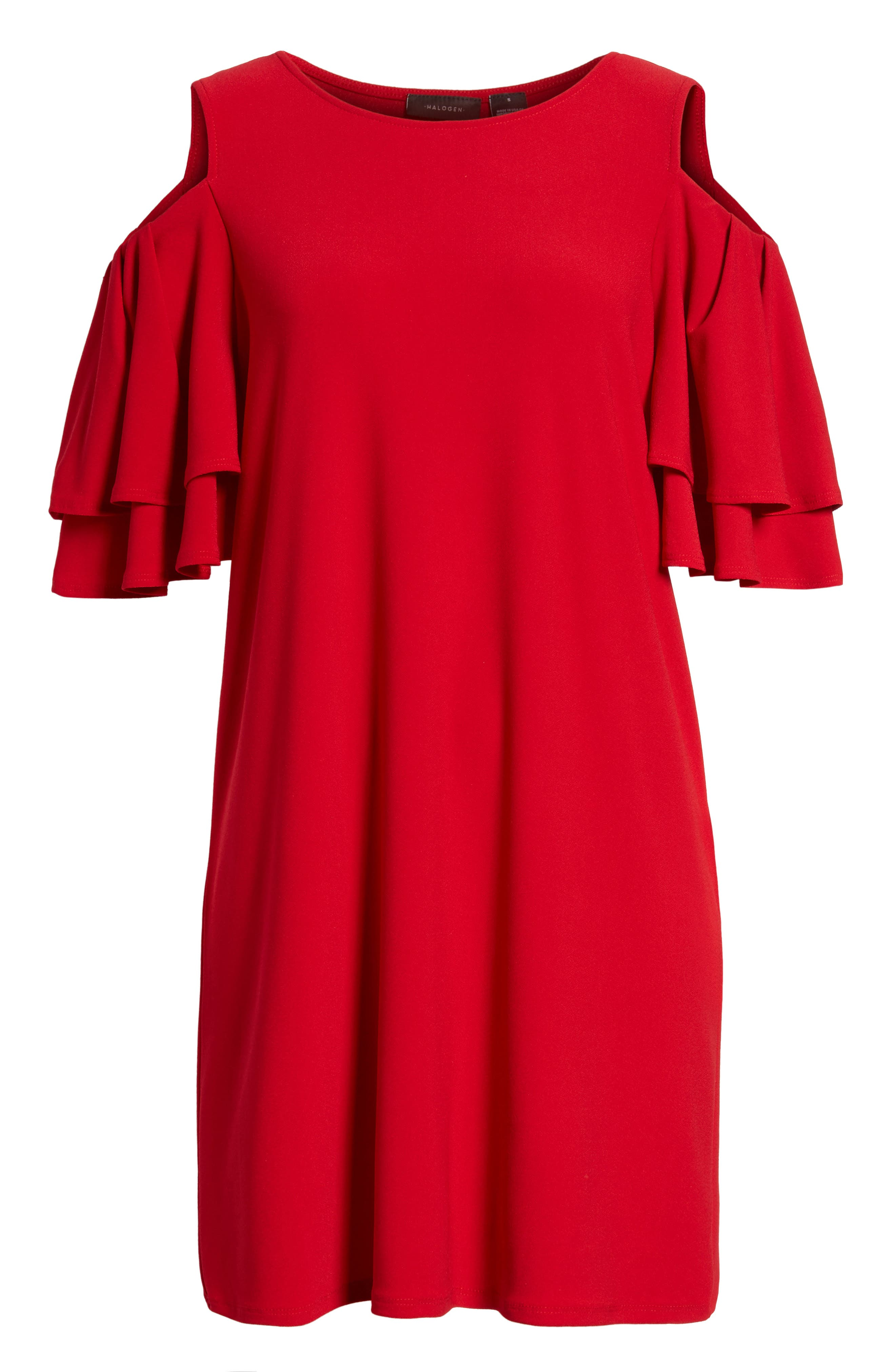 Alternate Image 6  - Halogen® Cold Shoulder Shift Dress