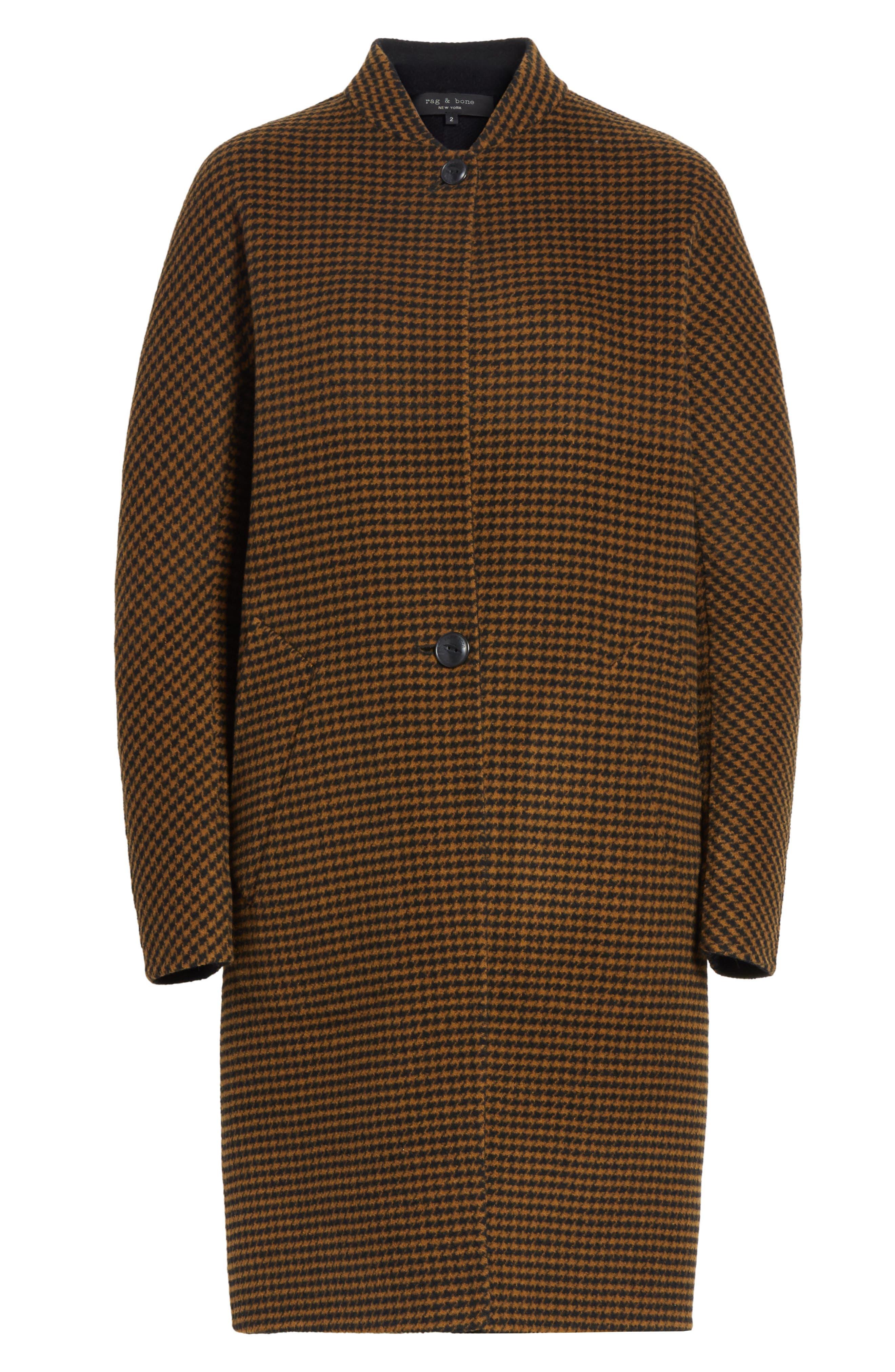 Darwen Reversible Wool & Cashmere Coat,                             Alternate thumbnail 7, color,                             Brown/Black