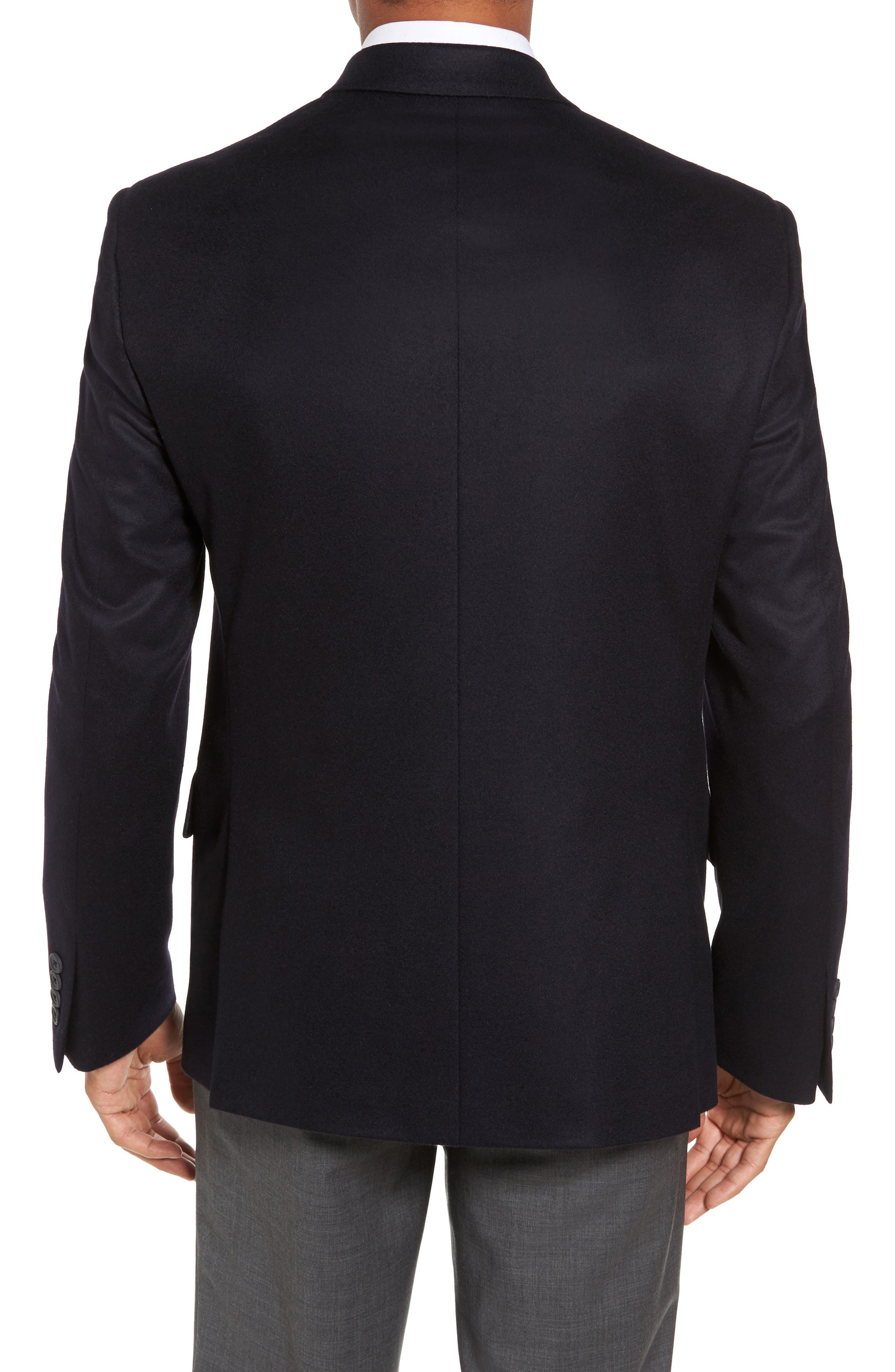 Alternate Image 2  - Nordstrom Men's Shop Classic Fit Cashmere Blazer