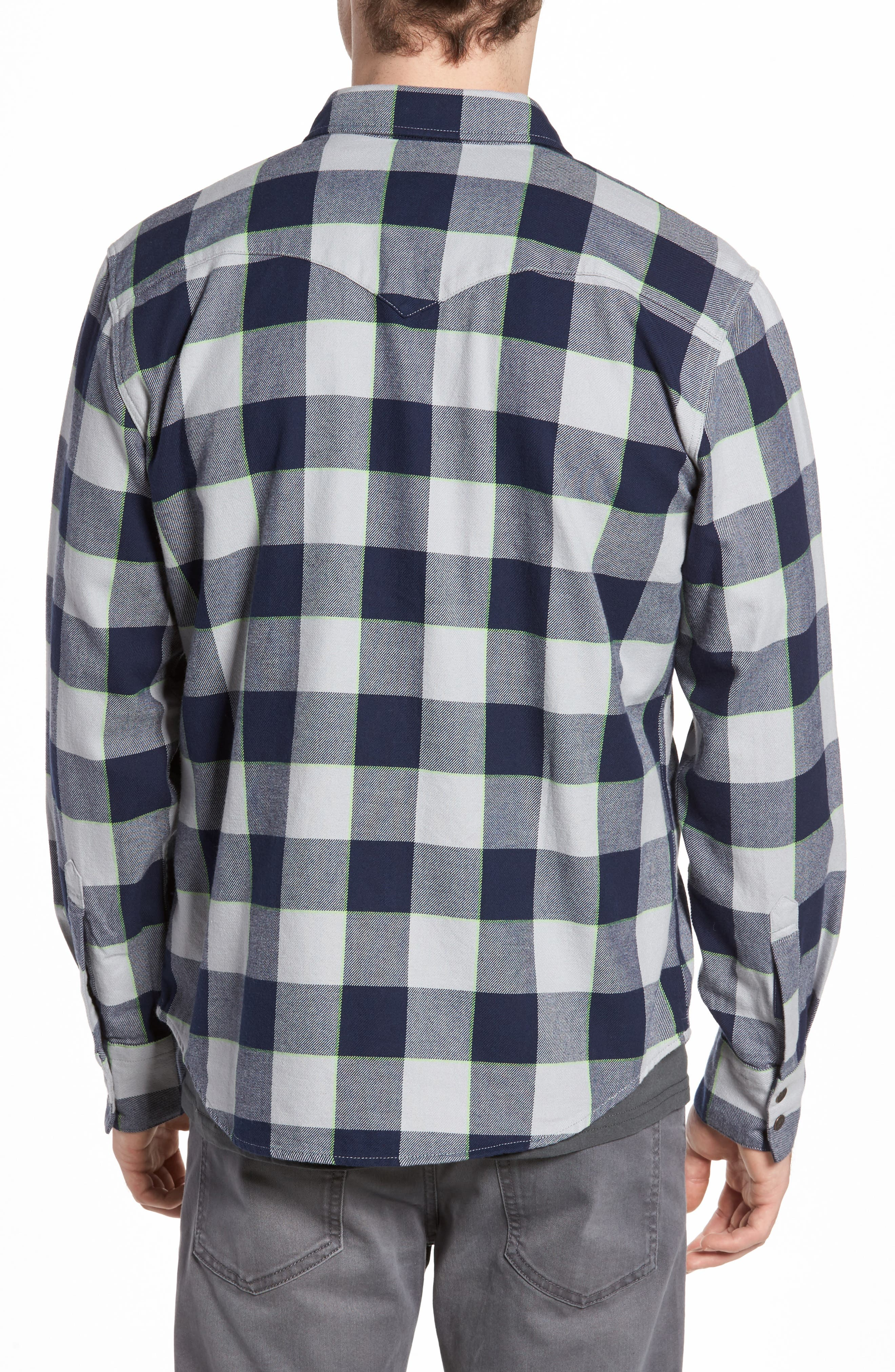 NFL Seahawks - Barstow Plaid Western Shirt,                             Alternate thumbnail 2, color,                             Blue Plaid