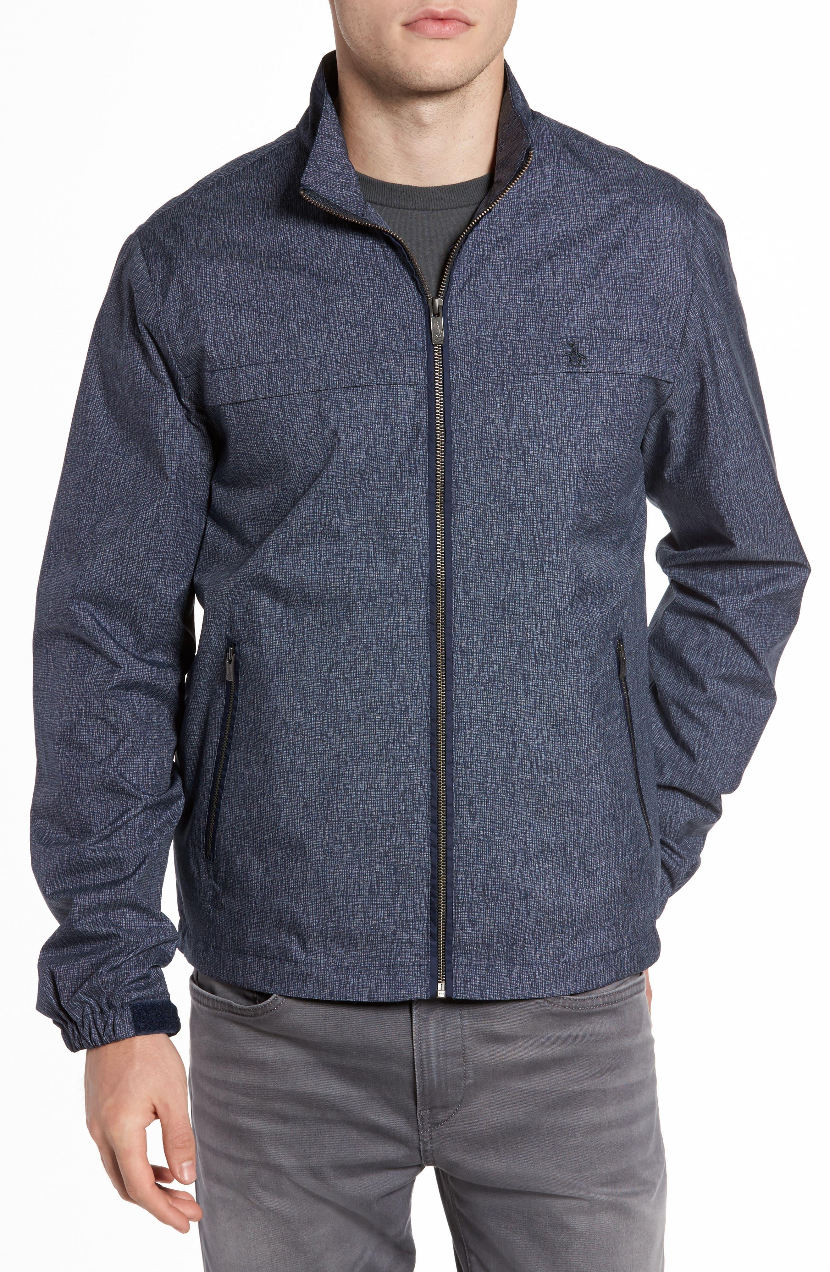 Ratner Water Resistant Jacket,                         Main,                         color, Dark Sapphire