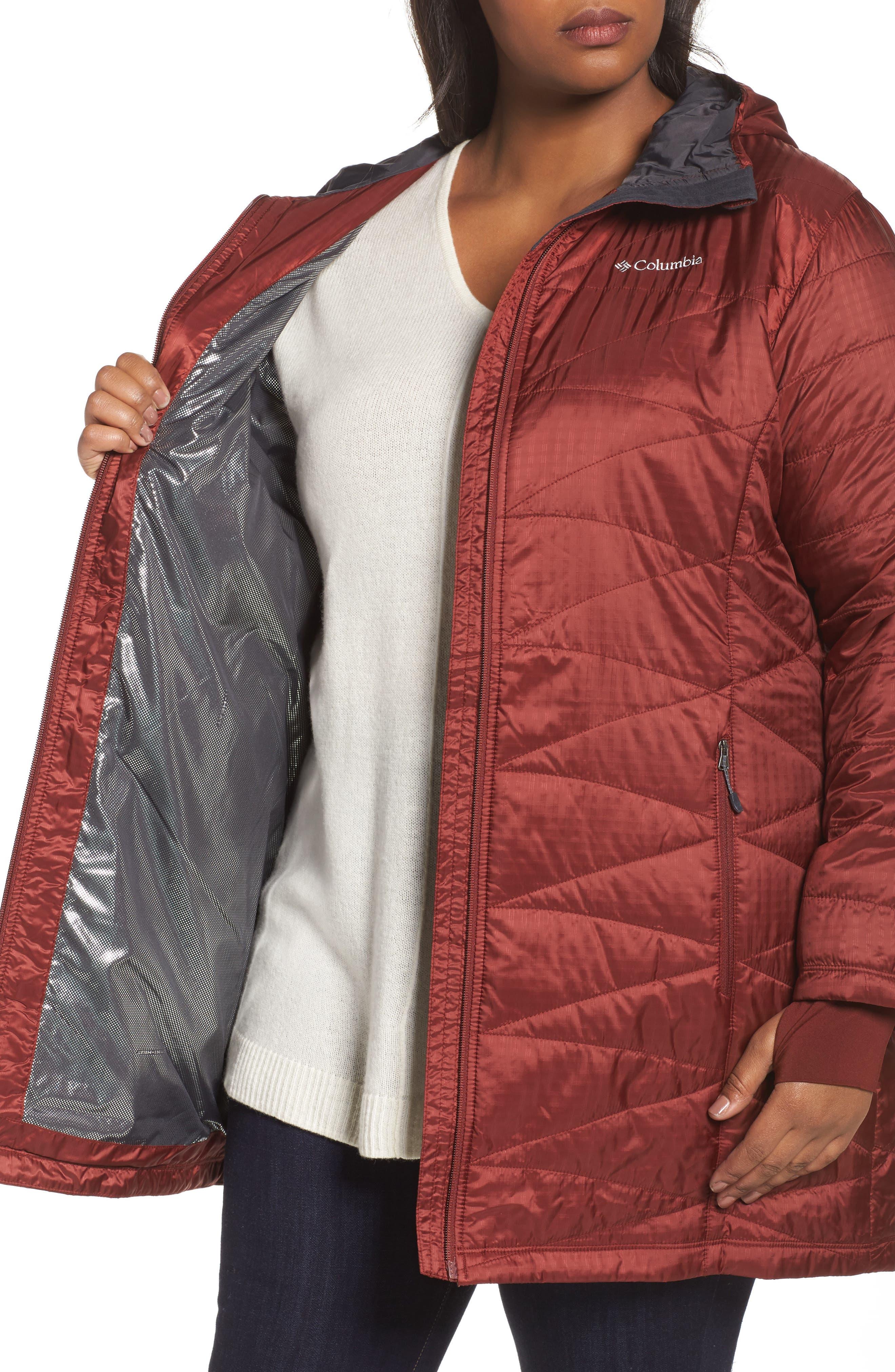 Mighty Lite Hooded Jacket,                             Alternate thumbnail 4, color,                             Deep Rust