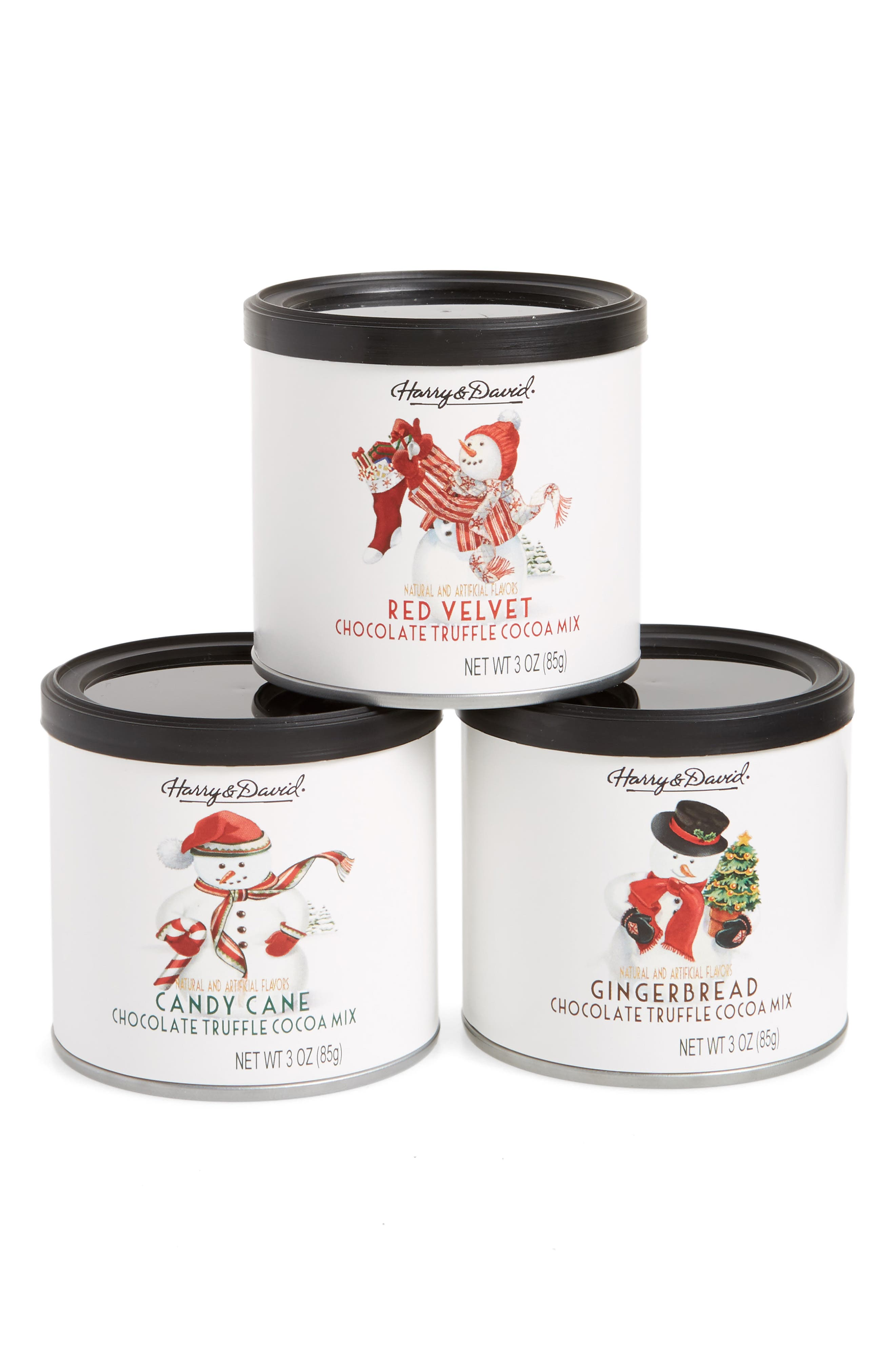 Harry & David Holiday Cocoa Mix Gift Set,                             Main thumbnail 1, color,                             Red