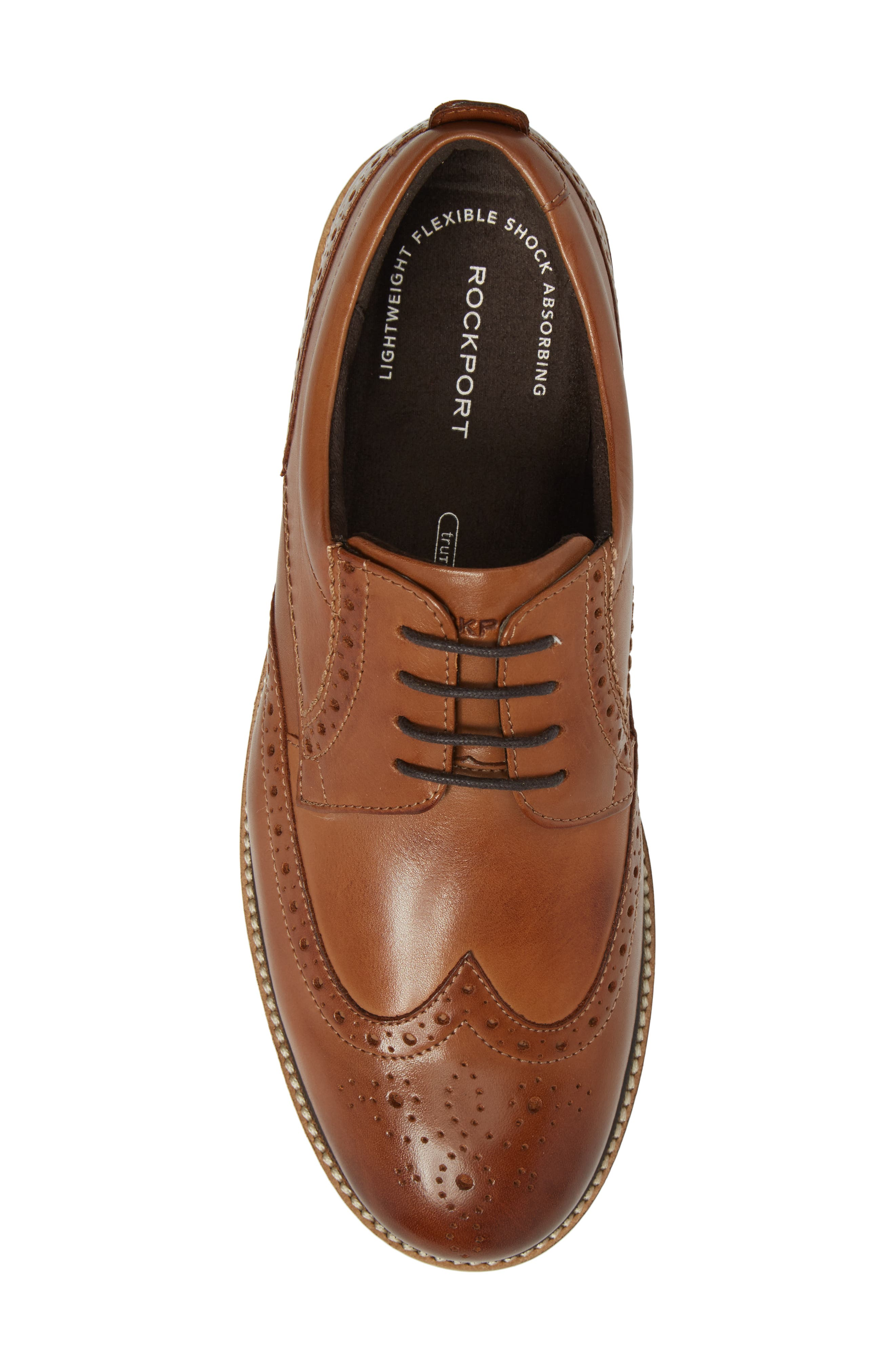Marshall Wingtip,                             Alternate thumbnail 5, color,                             Cognac Leather