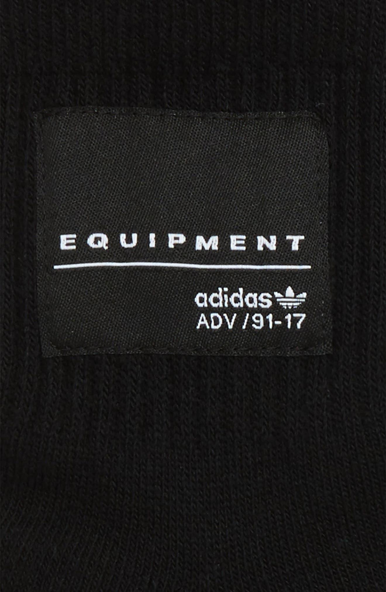 Equipment Crew Socks,                             Alternate thumbnail 2, color,                             Black/ White