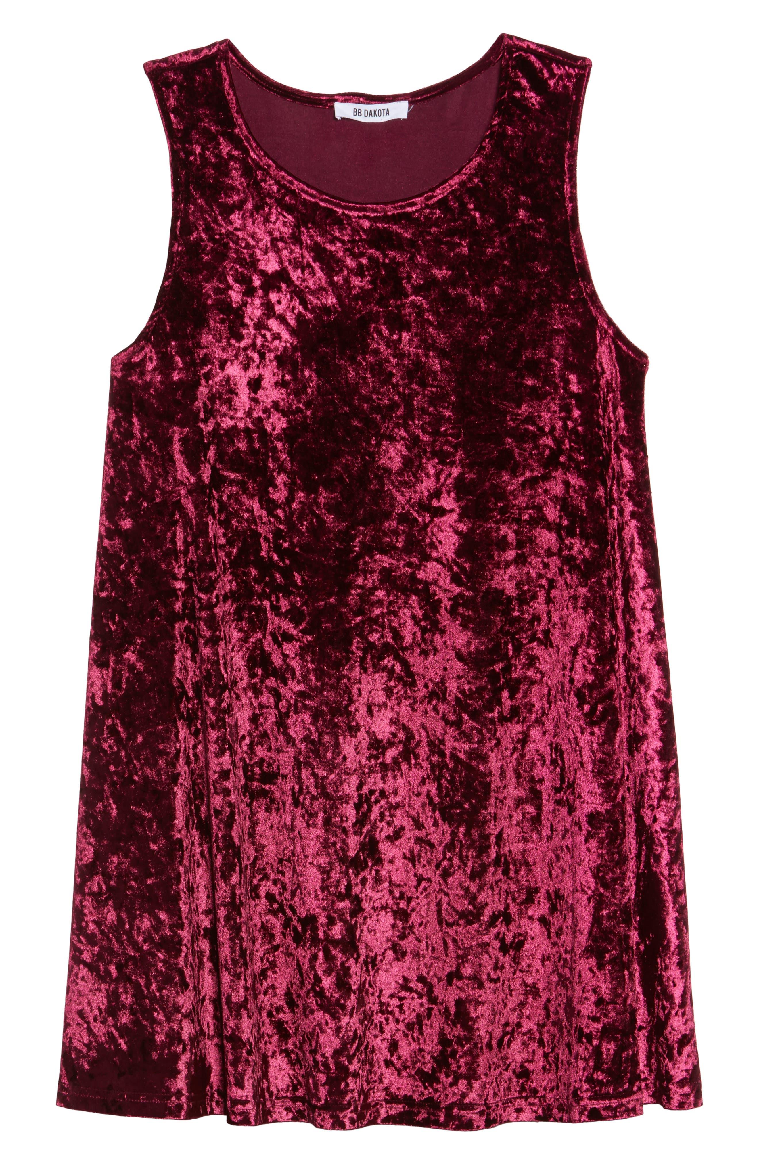 Alternate Image 6  - BB Dakota Crushed Velvet Shift Dress