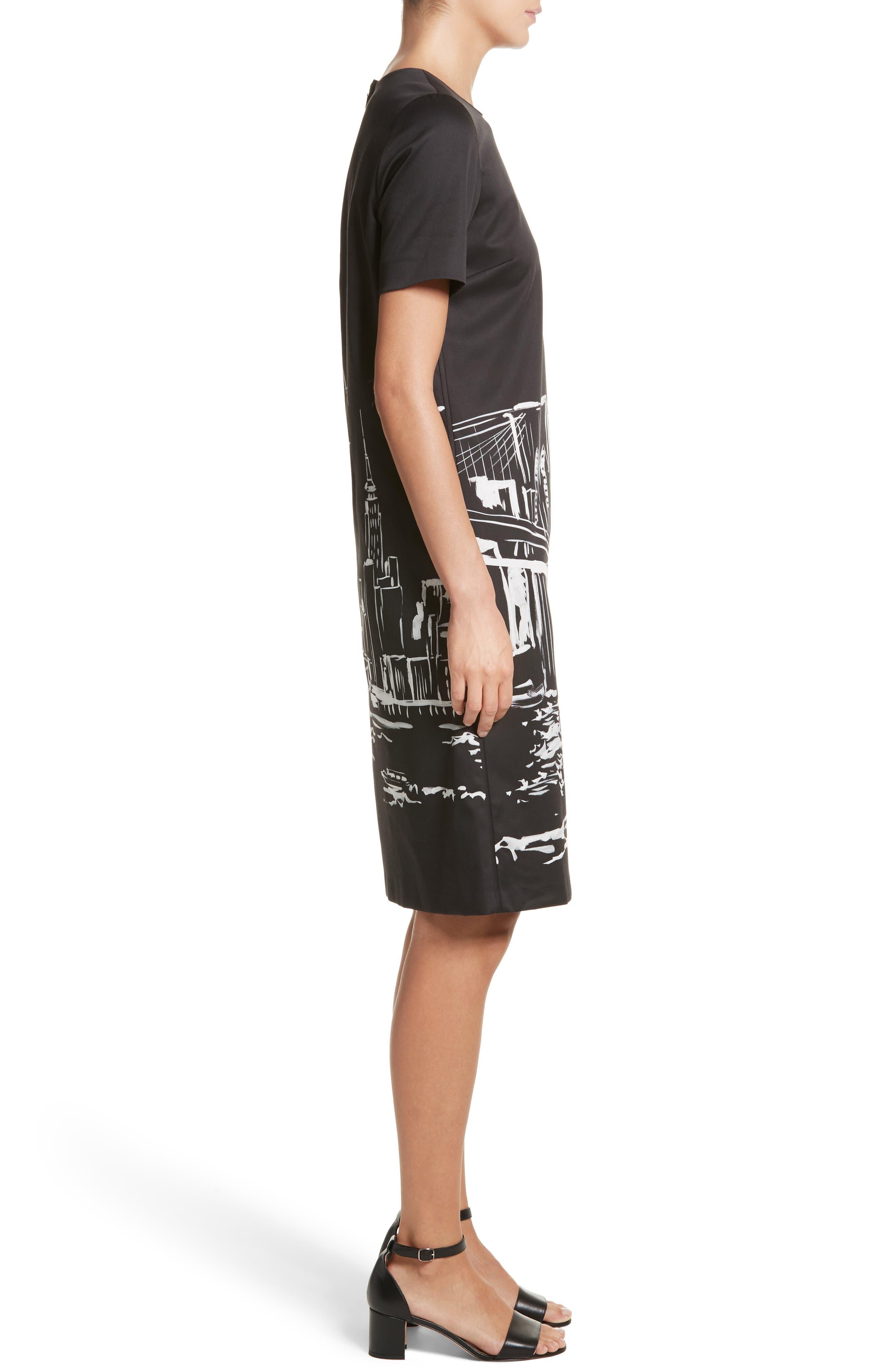 Alternate Image 3  - Lafayette 148 New York Giuliana Print Shift Dress