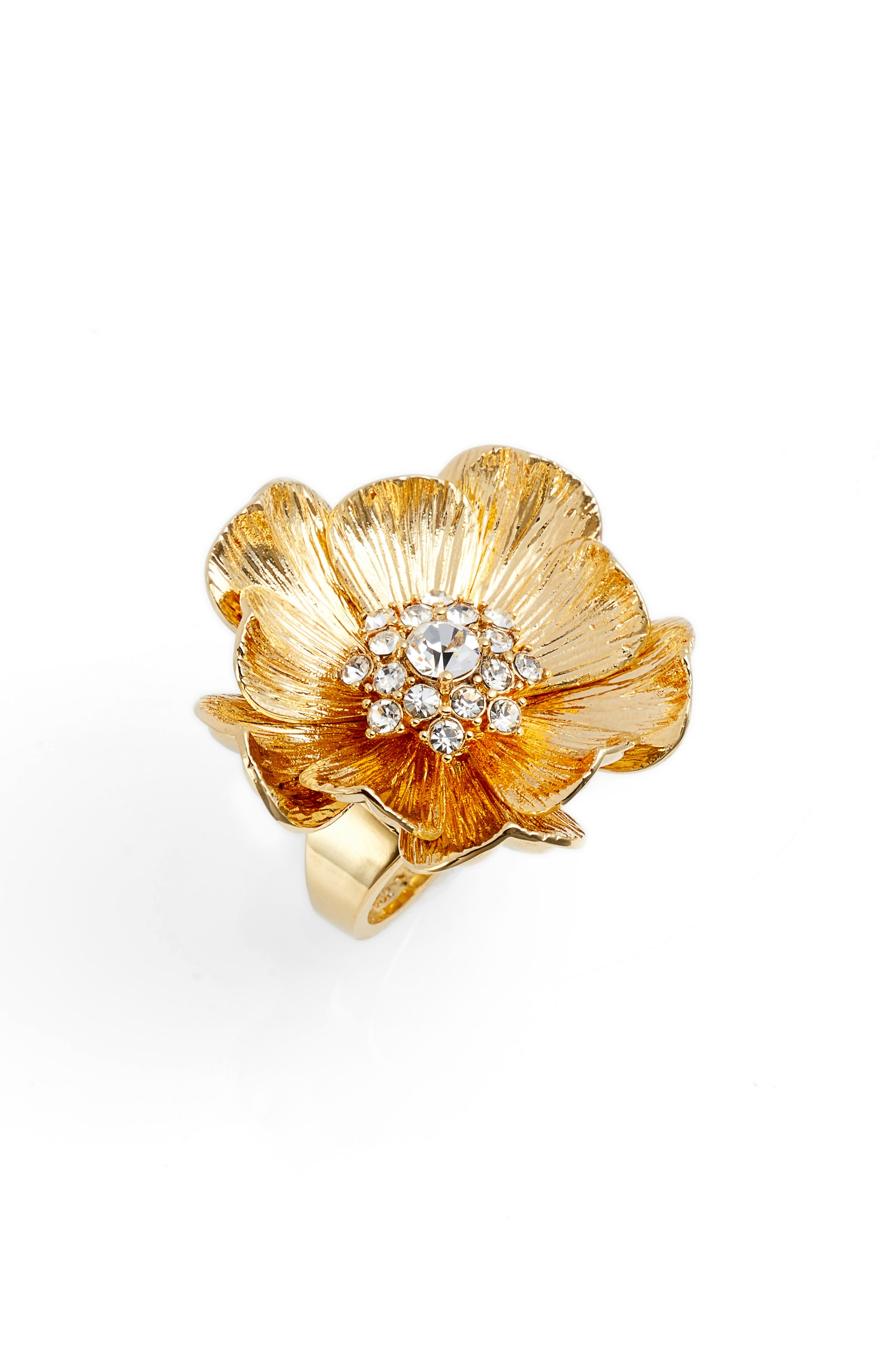 Alternate Image 1 Selected - kate spade new york precious poppies crystal ring