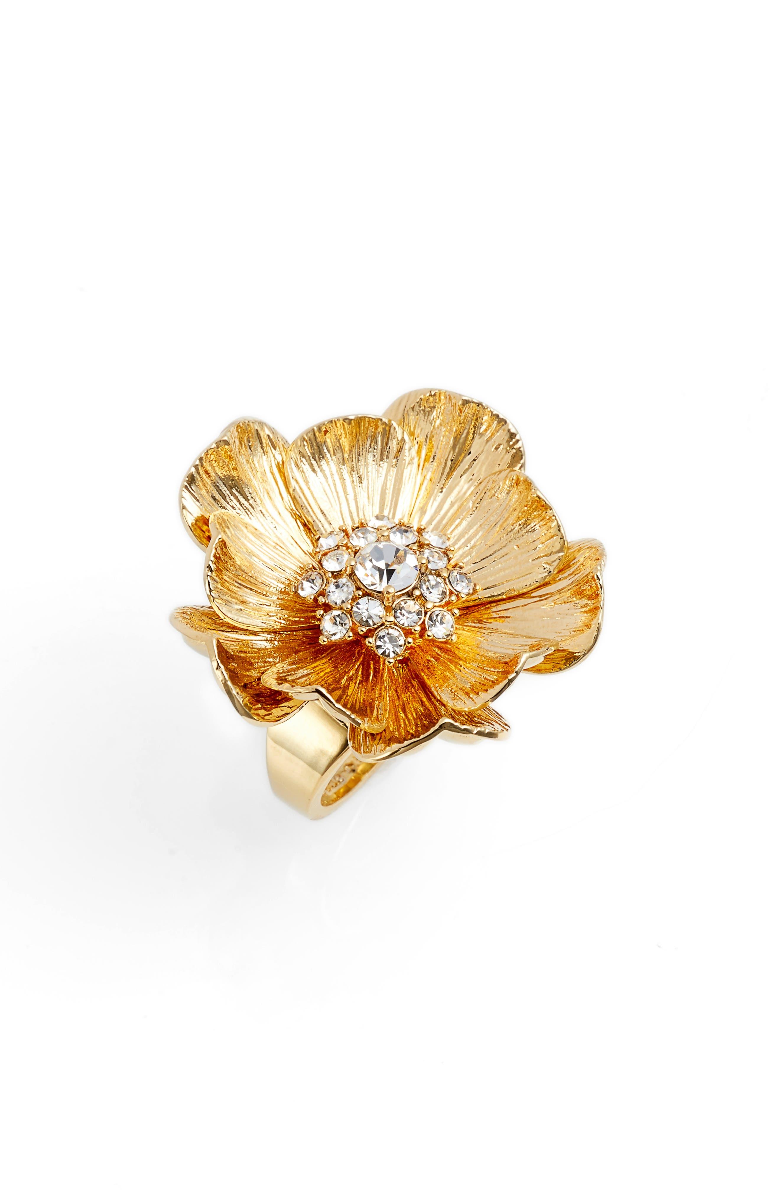 Main Image - kate spade new york precious poppies crystal ring