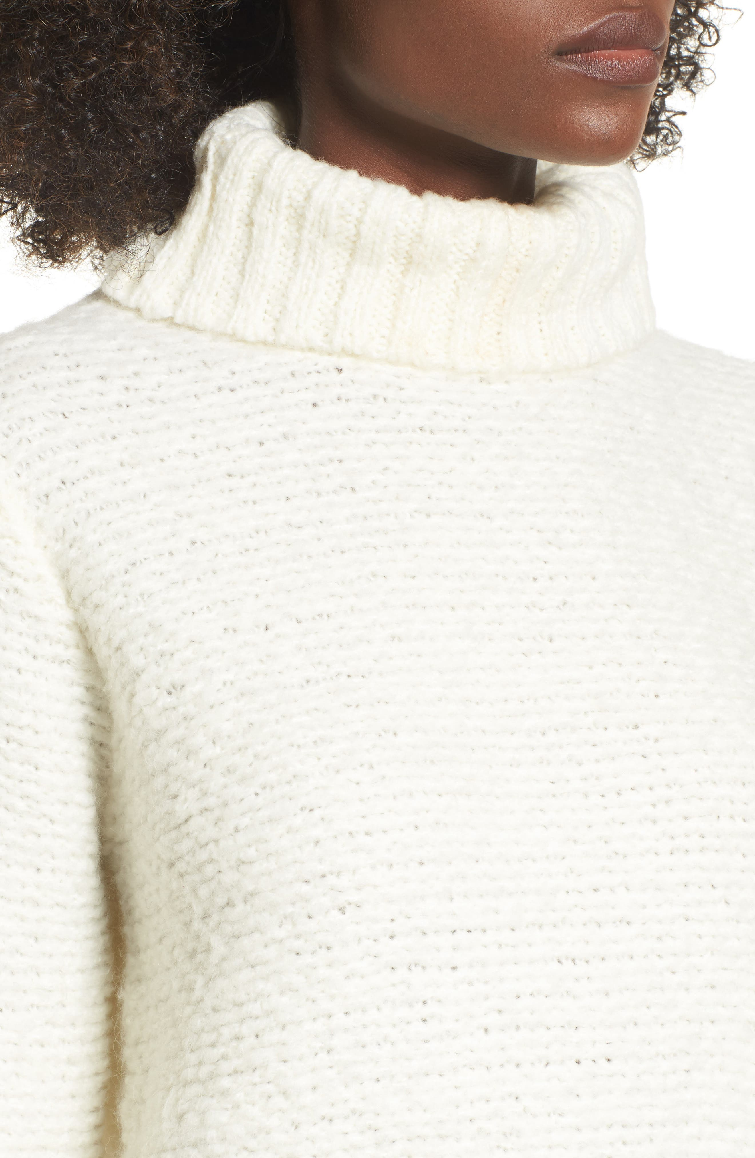 Kinks Turtleneck Sweater,                             Alternate thumbnail 4, color,                             Vintage White