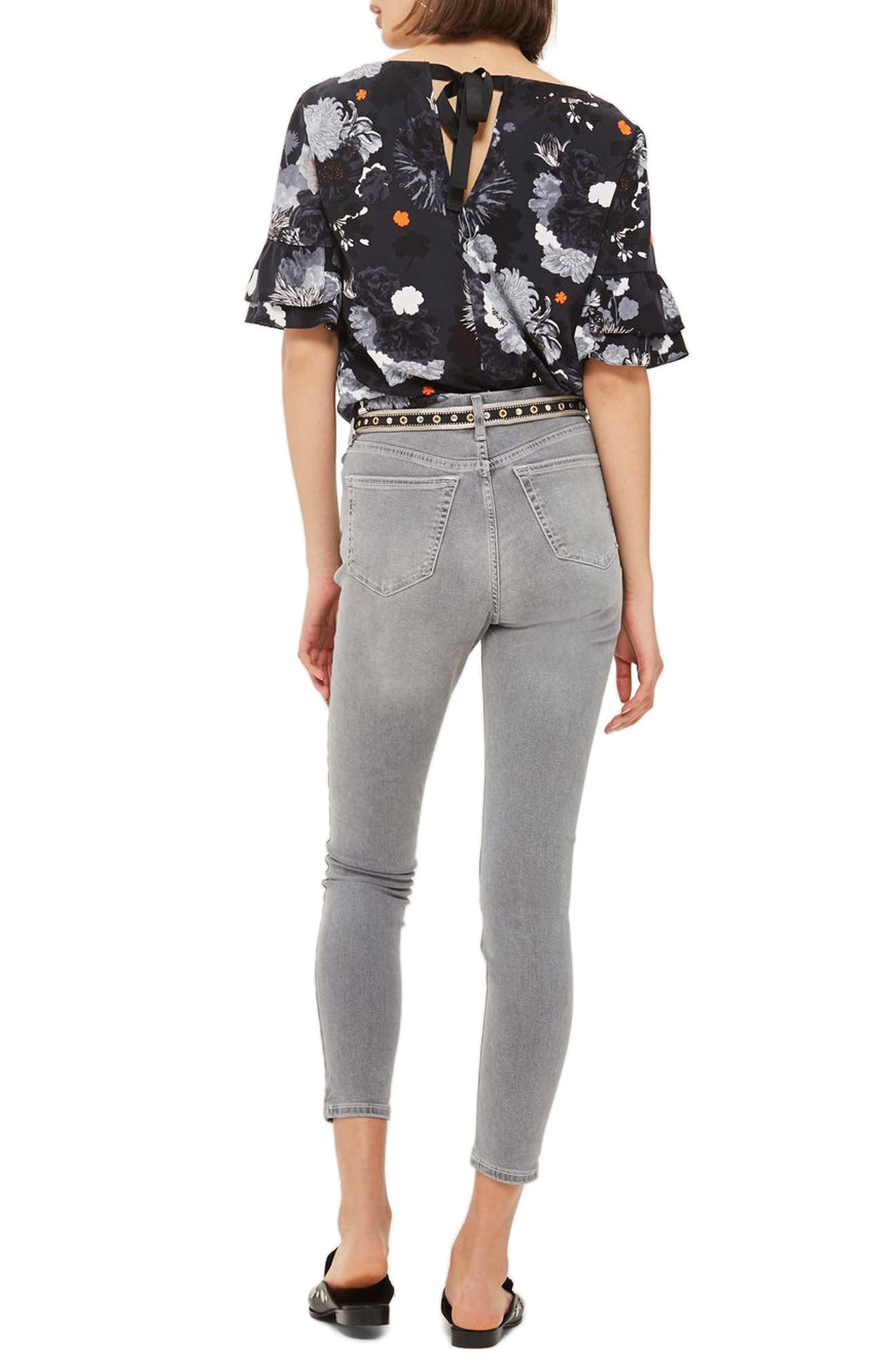 Jamie High Waist Ankle Skinny Jeans,                             Alternate thumbnail 2, color,                             Grey