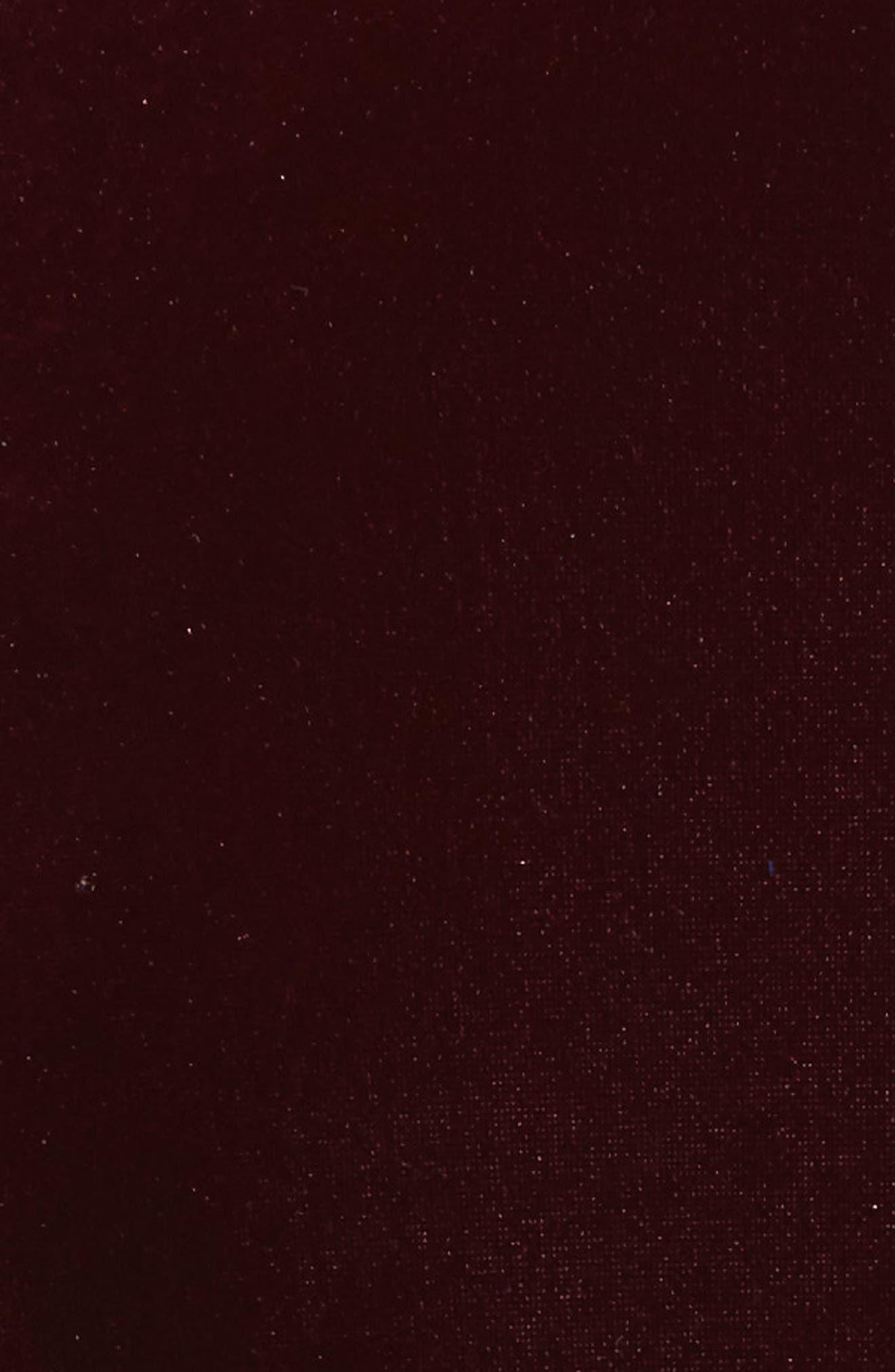 Grommet Detail Velvet Top,                             Alternate thumbnail 5, color,                             Burgundy