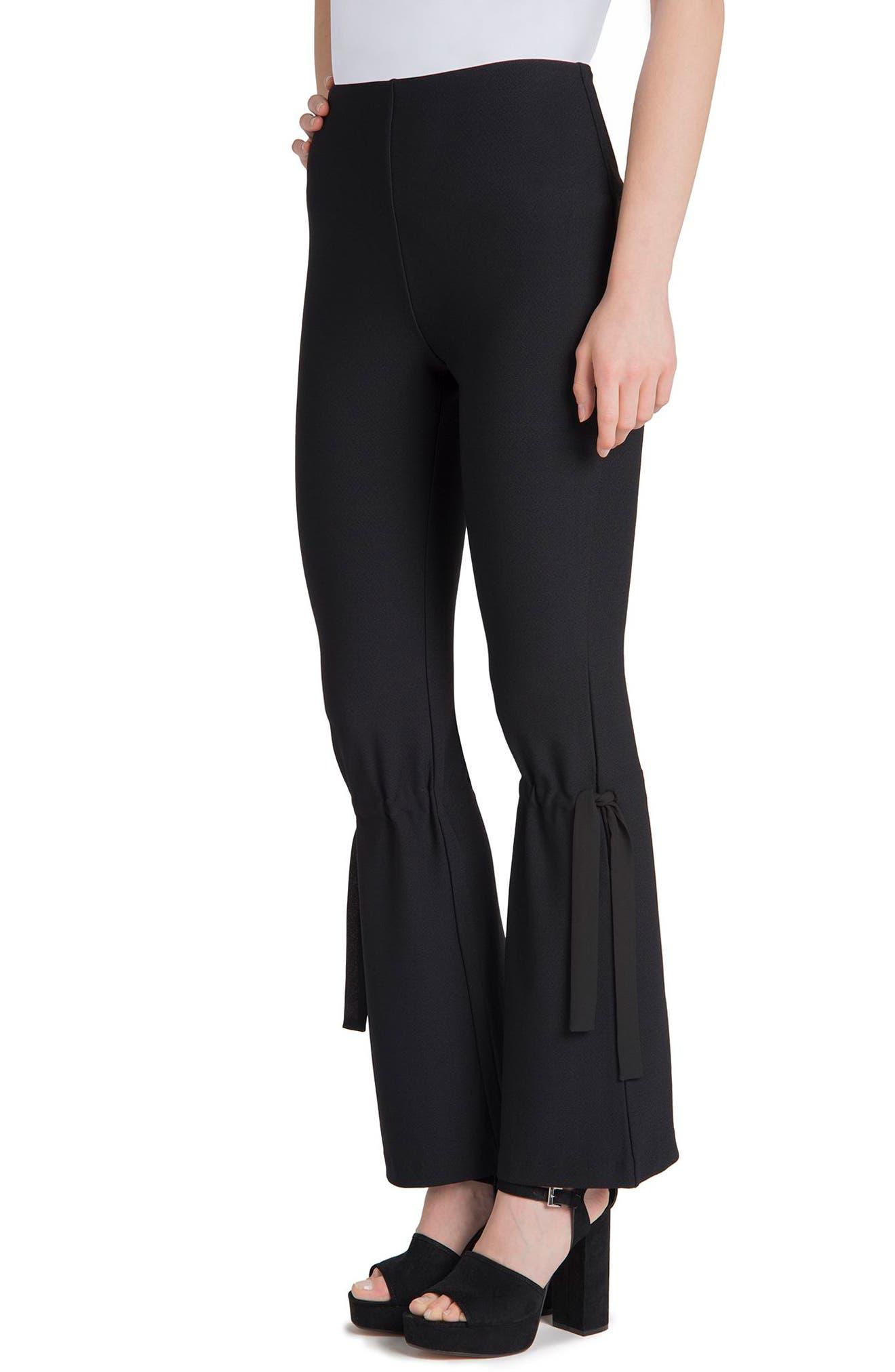 Arcadia High Waist Pants,                             Alternate thumbnail 3, color,                             Black
